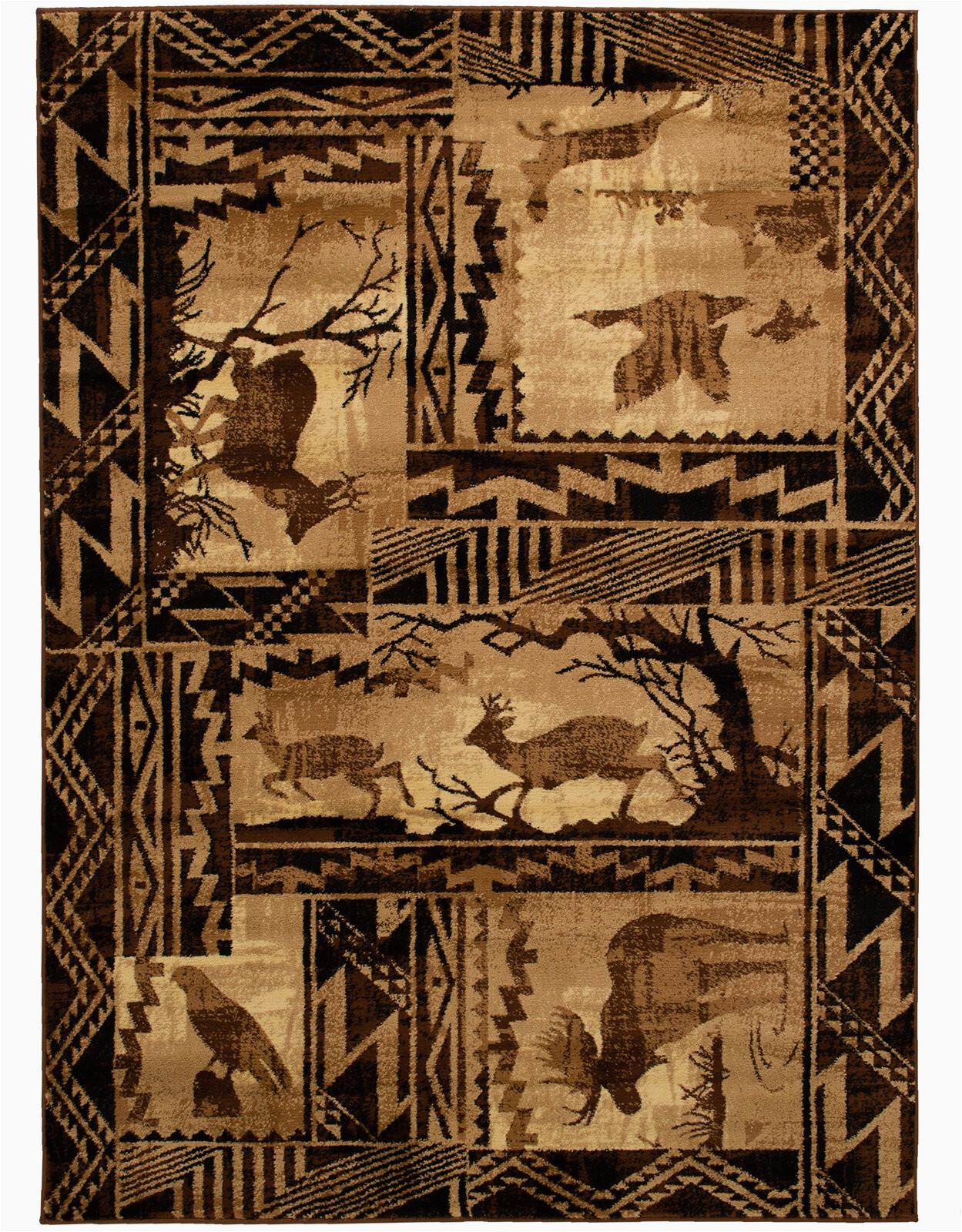 allport high quality woven ultra soft southwest wilderness theme berber area rug