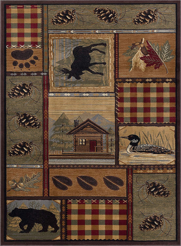 northwoods wildlife rug