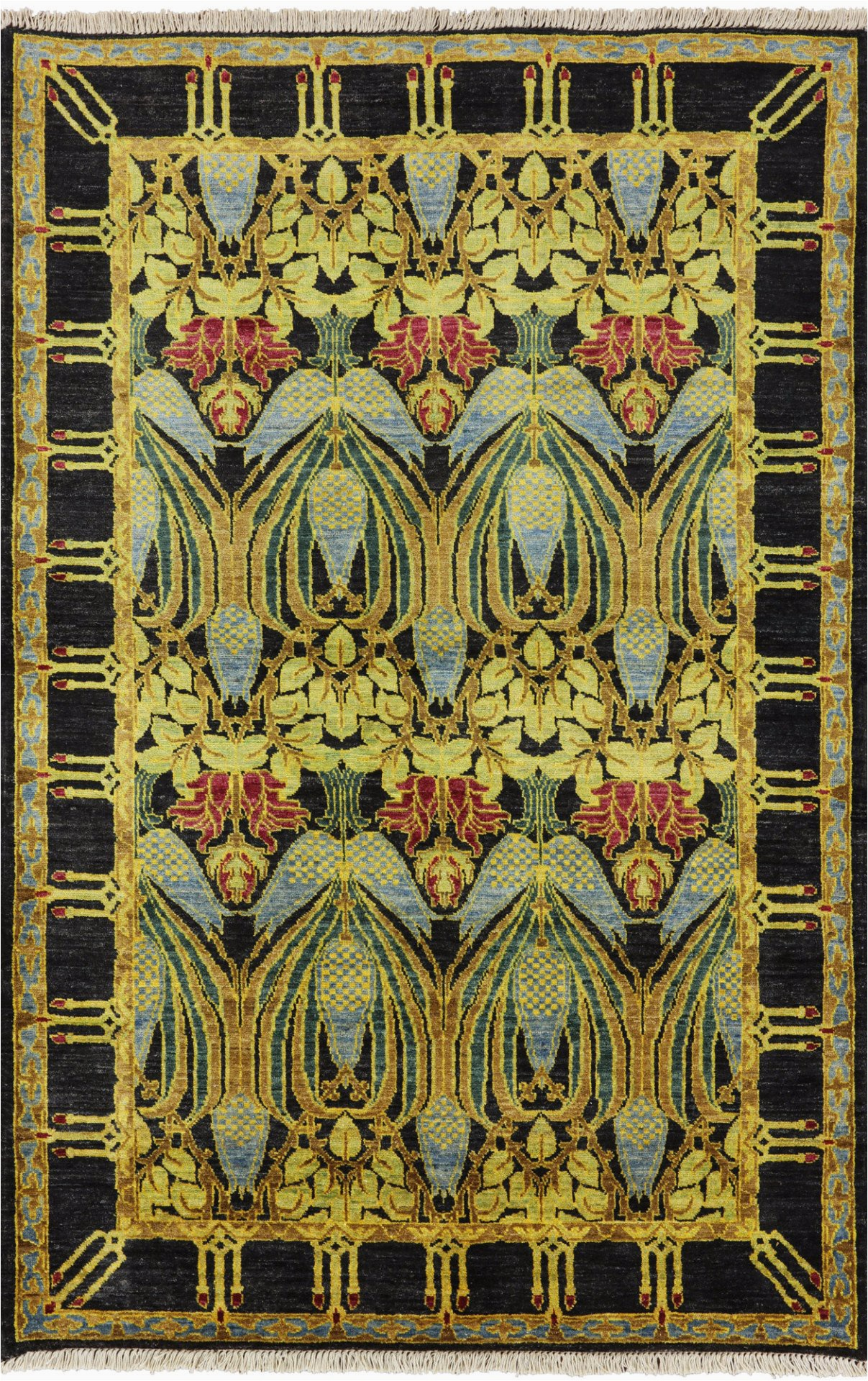 oriental handmade modern 4 x 6 art deco area rug