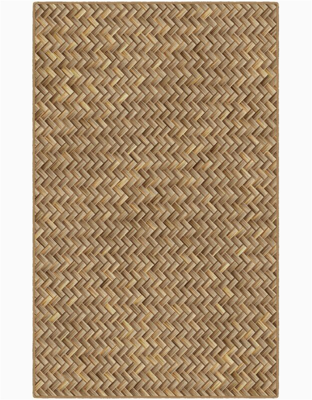 Powell Basket Weave Tan Area Rug