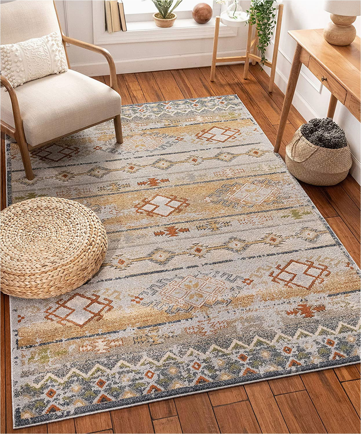 "Bed Bath and Beyond Small area Rugs Well Woven Elu Cream Vintage Panel Pattern area Rug 5×7 5 3"" X 7 3"""