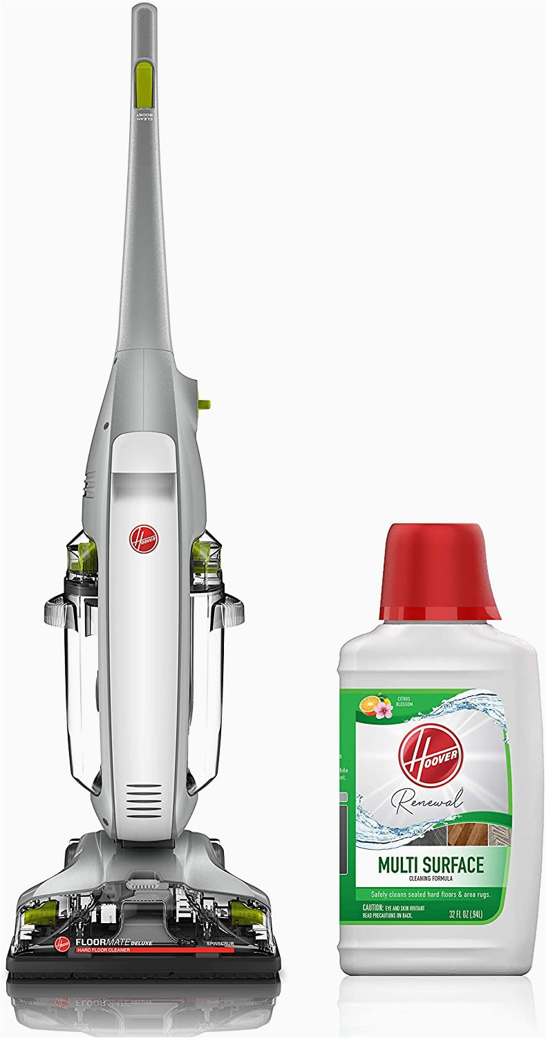 Best Vacuum Cleaner for Wood Floors and area Rugs Hoover Floormate Deluxe Hard Floor Cleaner with Renewal 32oz solution