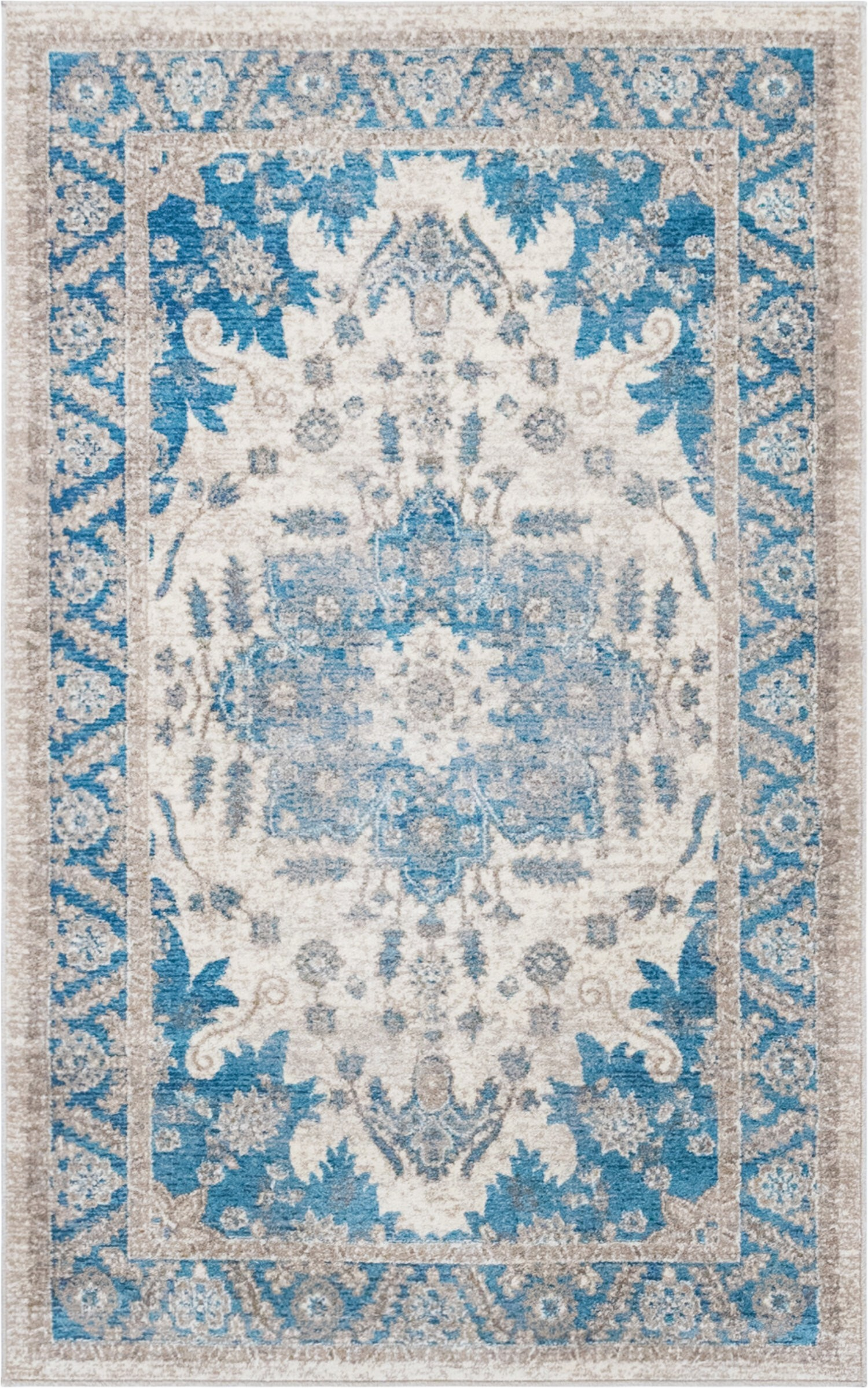 Birch Lane Rugs Blue Jaiden oriental Light Blue oriental area Rug