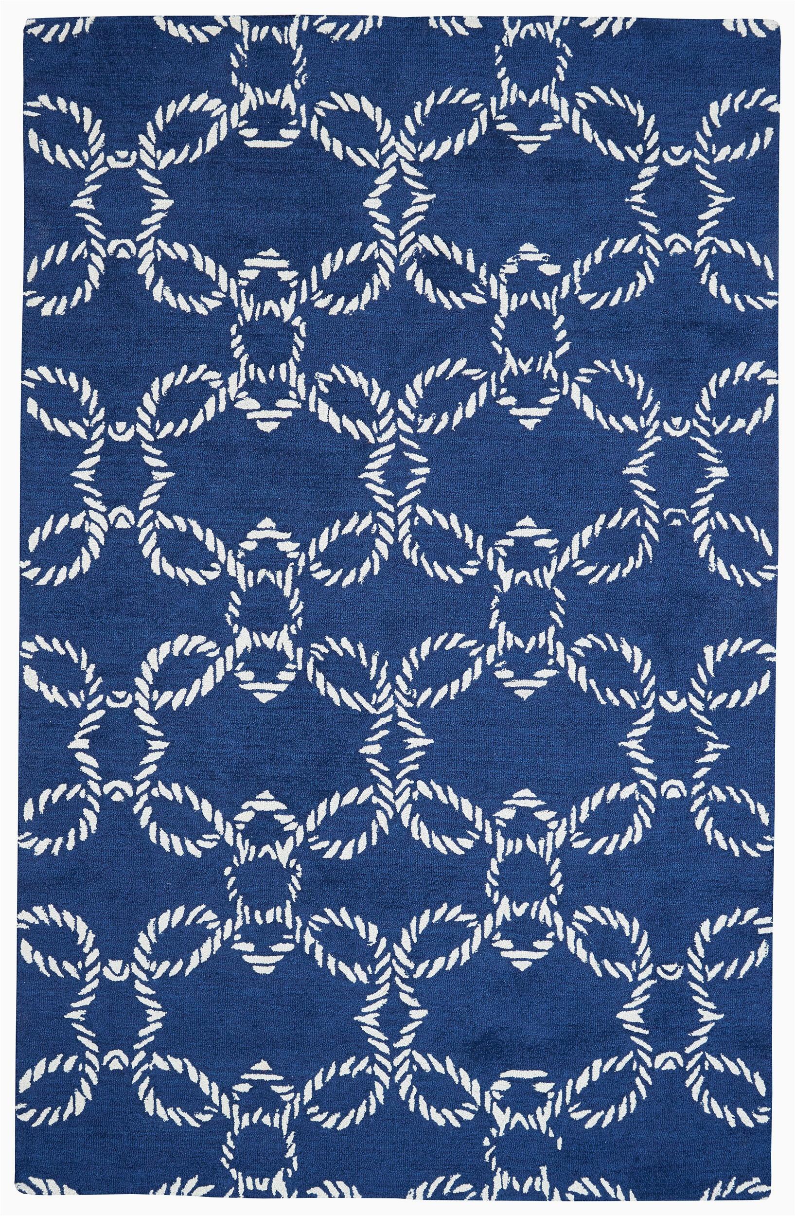 Birch Lane Rugs Blue Petitt Geometric Handmade Tufted Blue Indoor Outdoor area Rug
