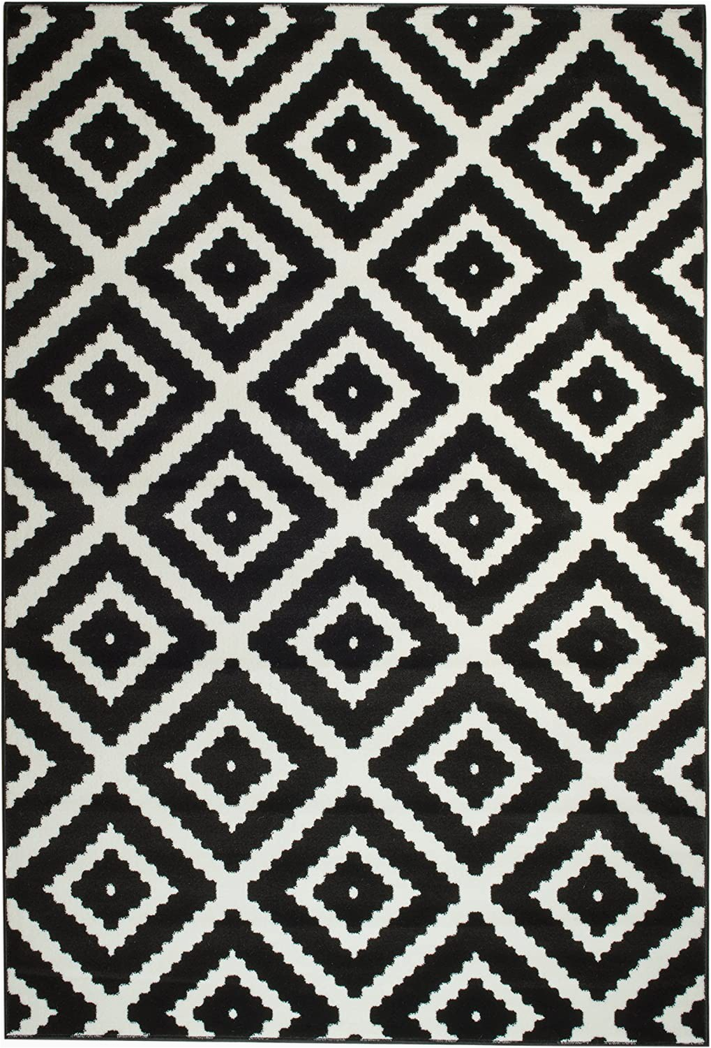 Black and White area Rugs Amazon Summit 46 Black White Diamond area Rug Modern Abstract Many Sizes Available Door Mat 22 Inch X 35 Inch