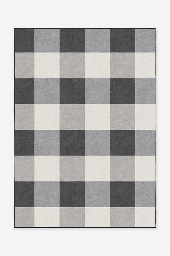 Buffalo Plaid BlackWhite A RC 0494 57 Clean Washable Rug Pad
