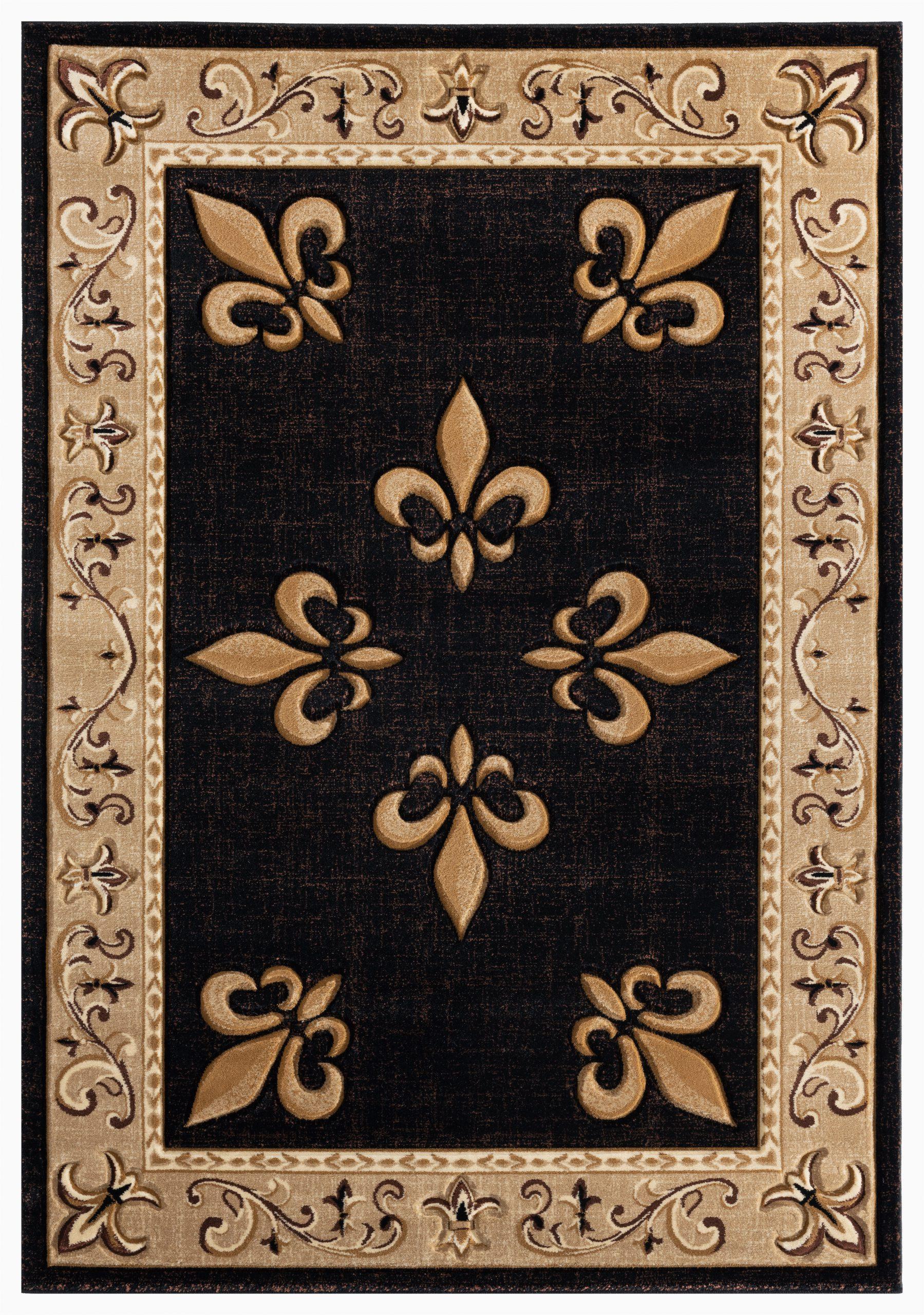 goines beigeblackbrown area rug