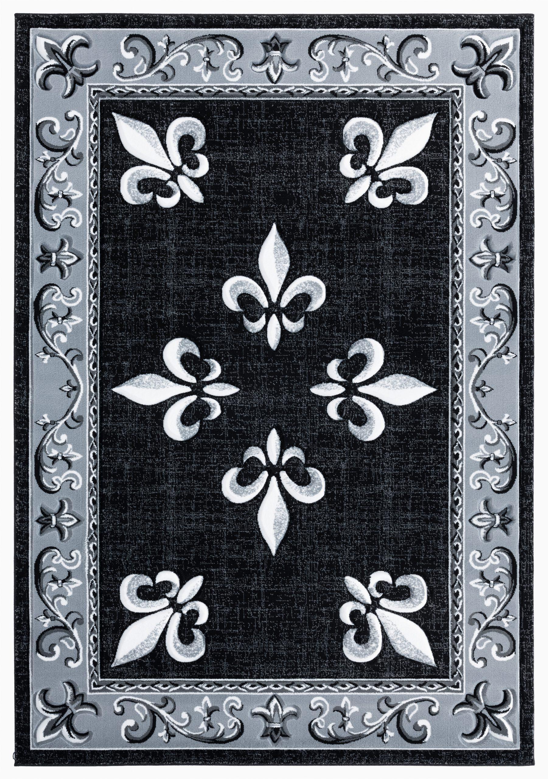 goines blackgraywhite area rug