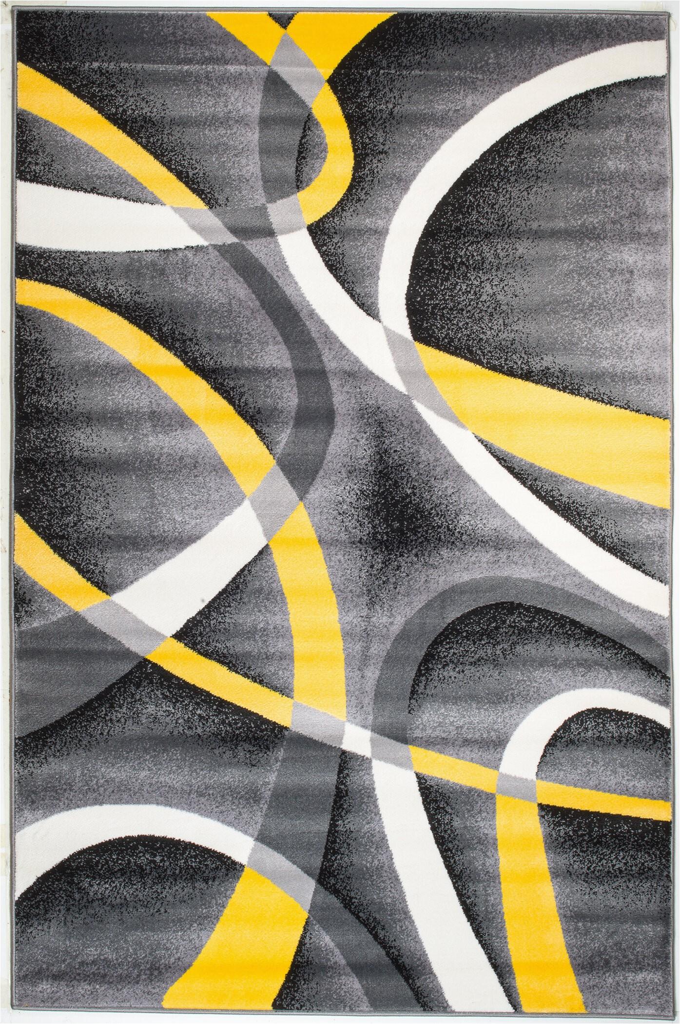 Black Grey and Yellow area Rug Gaeta Abstract Multi Colored area Rug