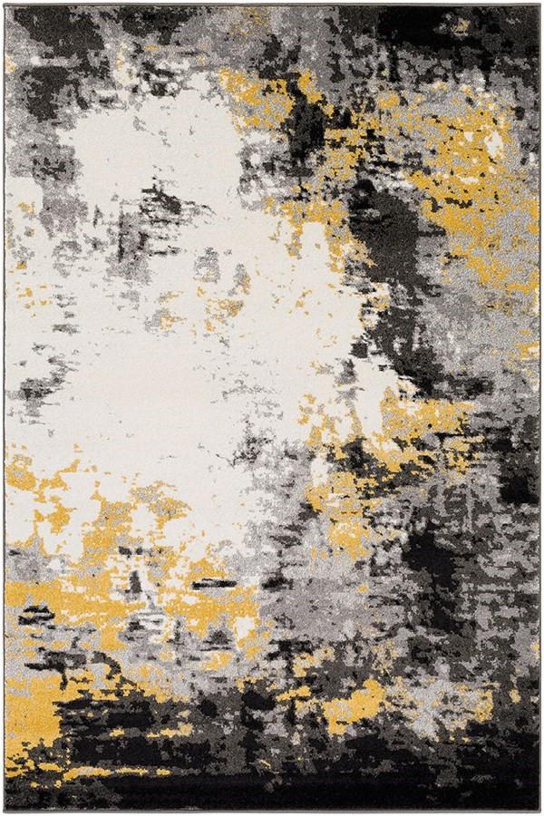 Black Grey and Yellow area Rug Surya Pepin Contemporary Ii area Rugs