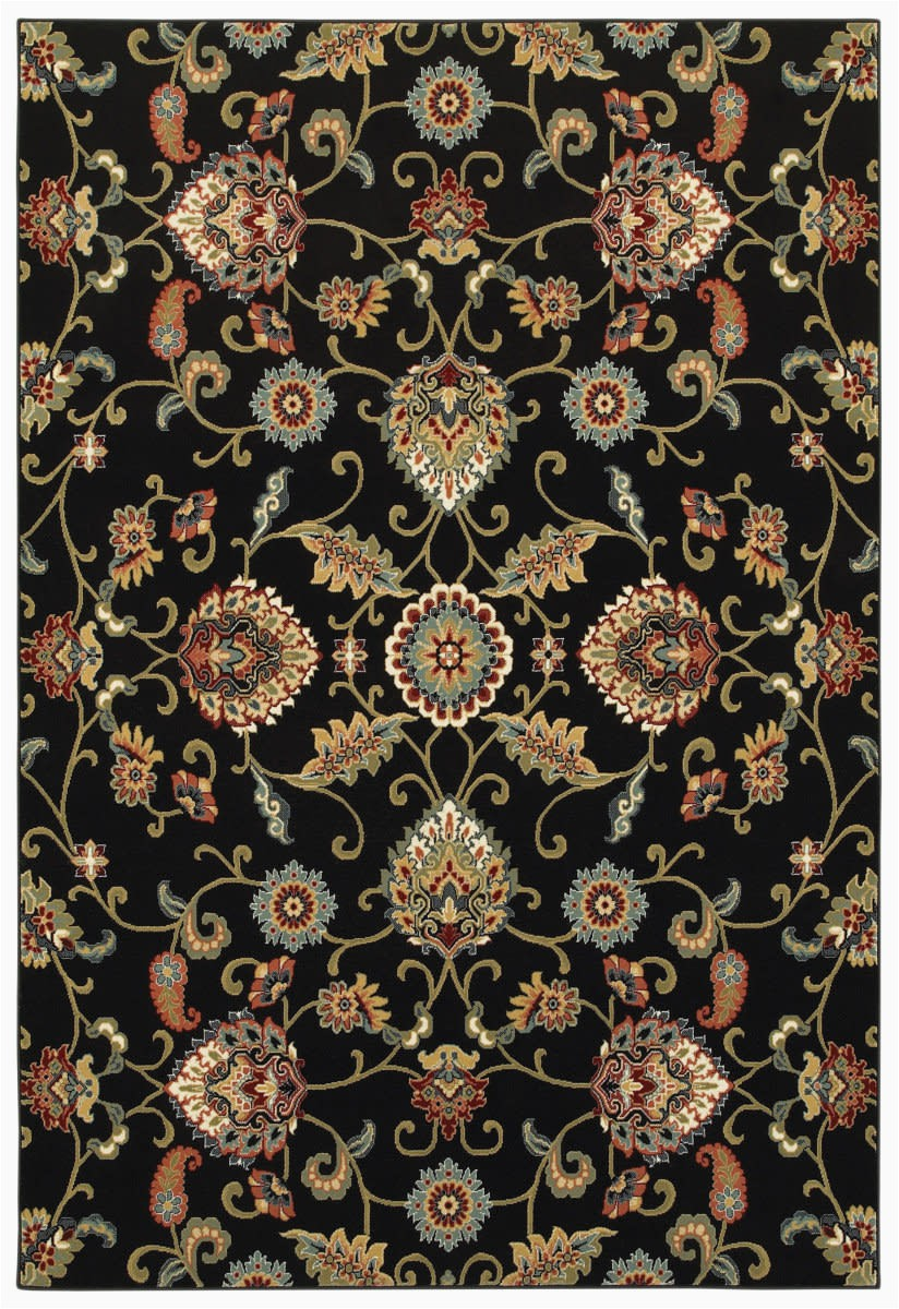 oriental weavers kashan 9946k black multi area rugx