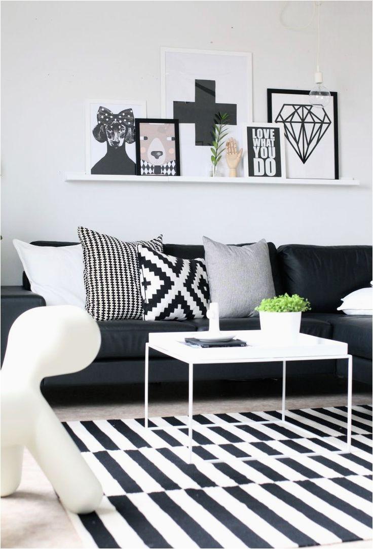 swedish black and white decor striped rug