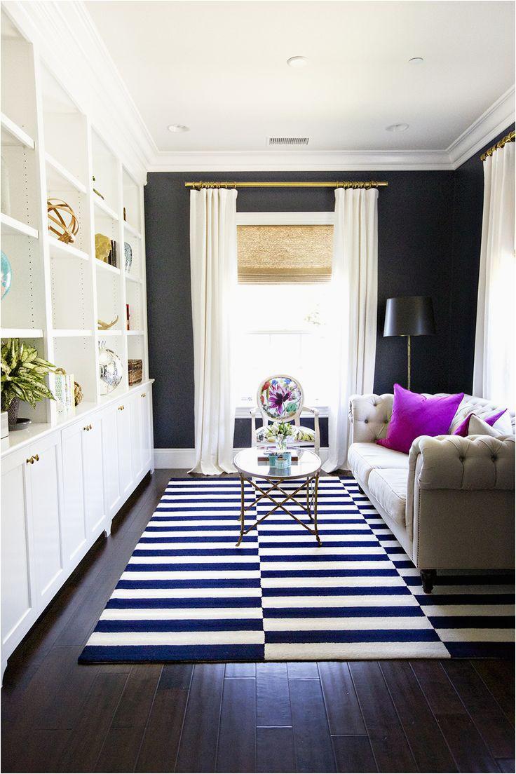 decorating like a pro striped black white rug