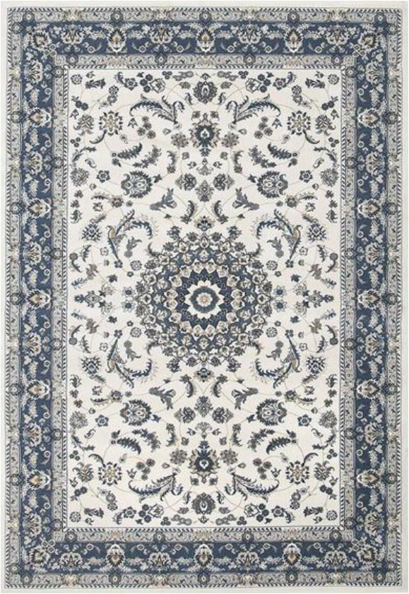 zara medallion cream blue oriental rug view=lightbox