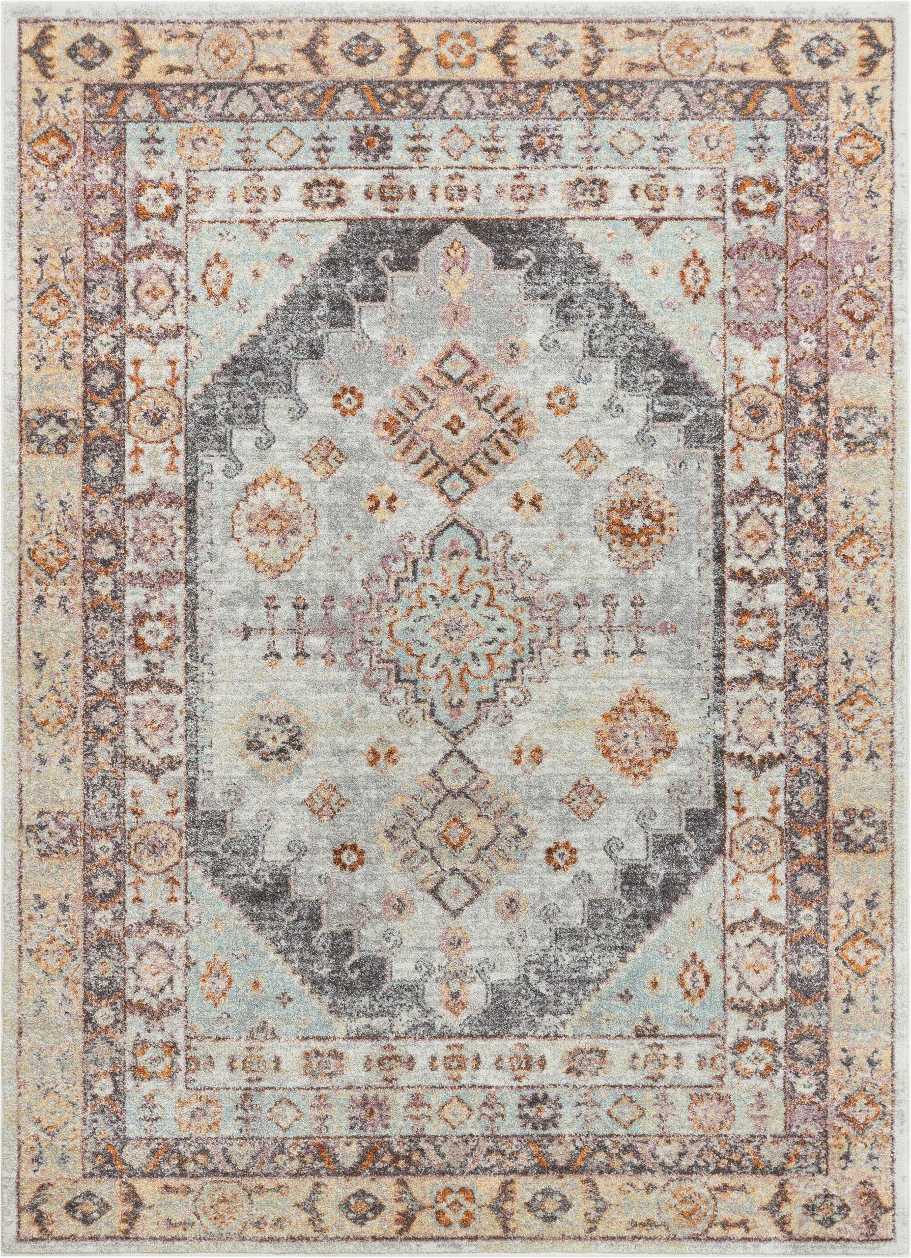rodeo virden bohemian eclectic tribal aztec power loom gray rug
