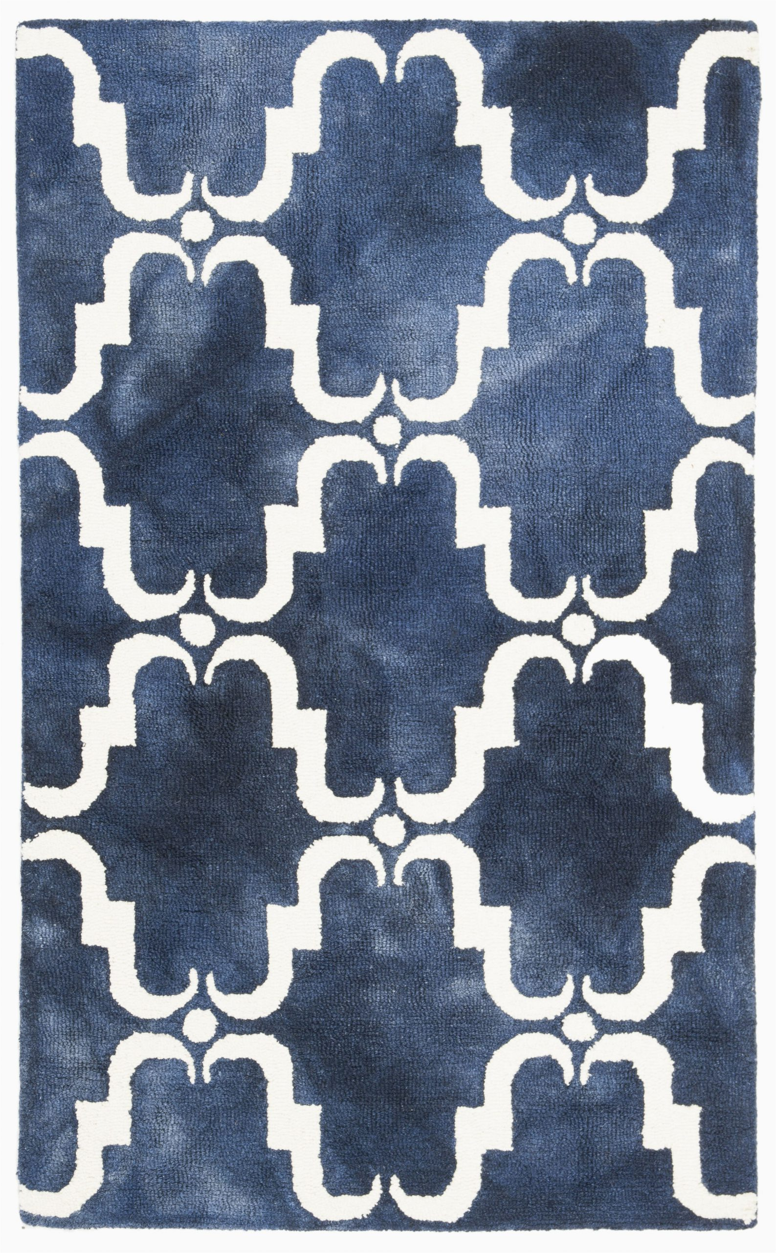 monroe hand tufted wool navy bluelight bluewhite area rug
