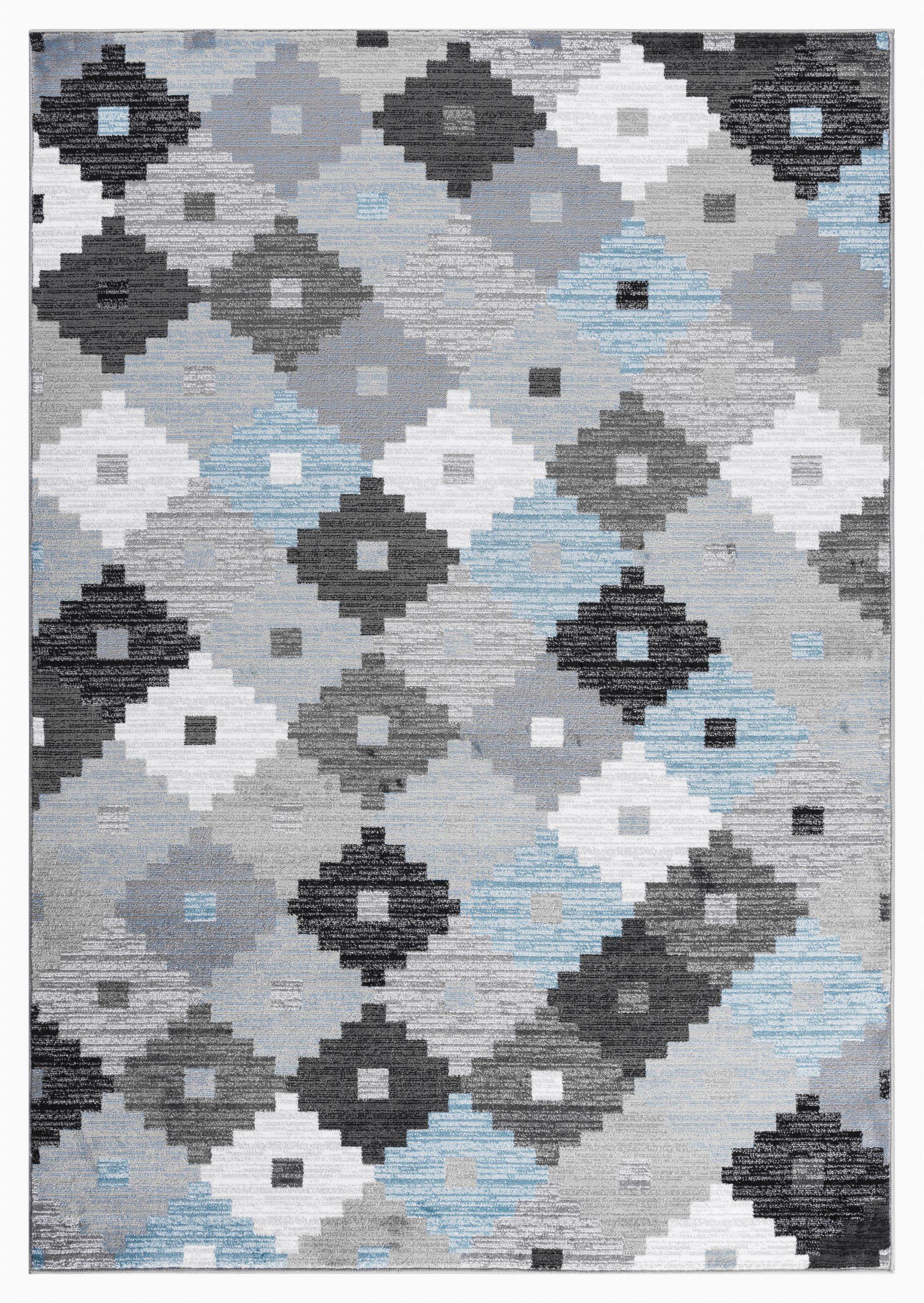 caledian quilt grayblueblack area rug