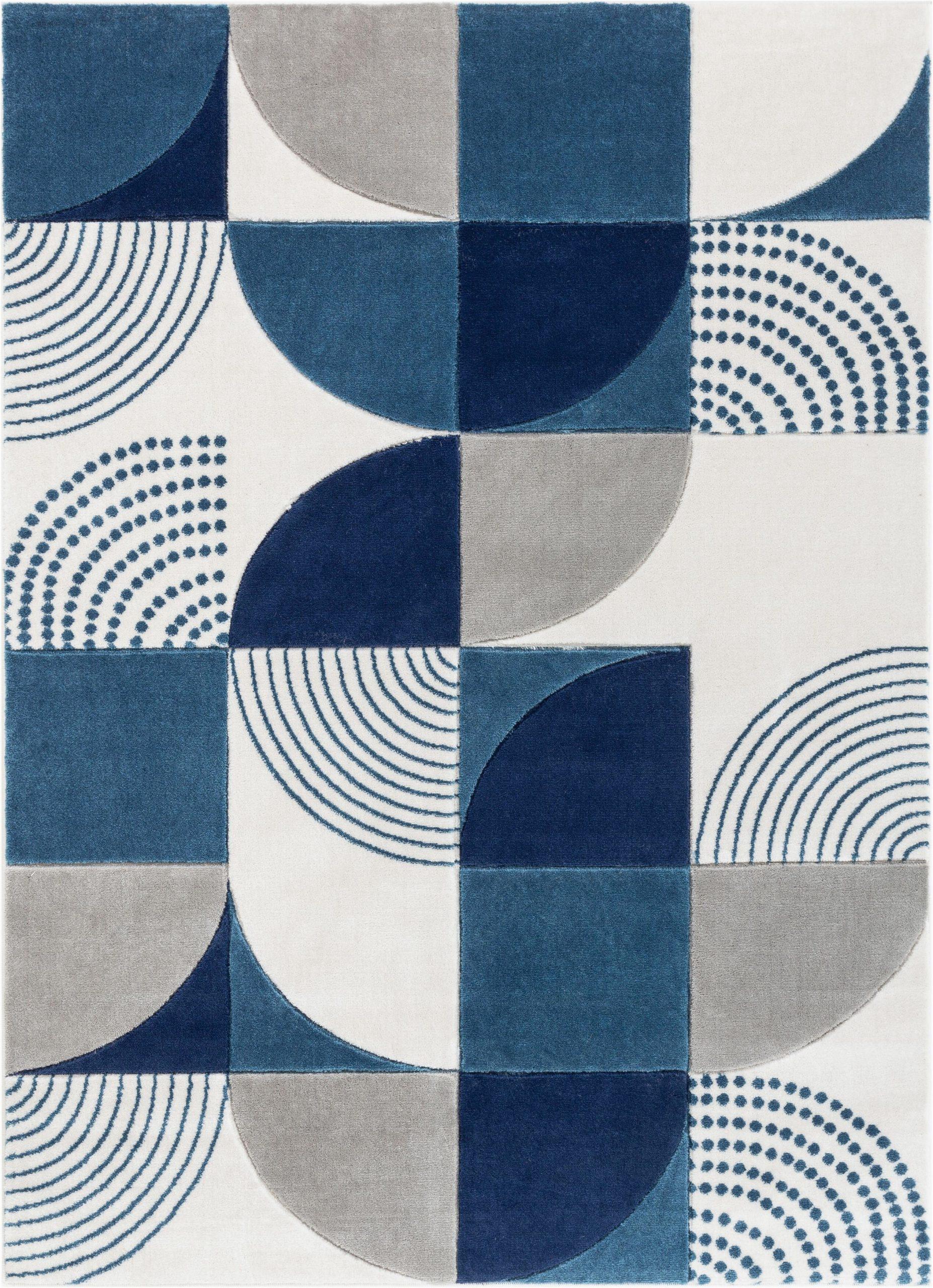 margot geometric bluegrayblack area rug