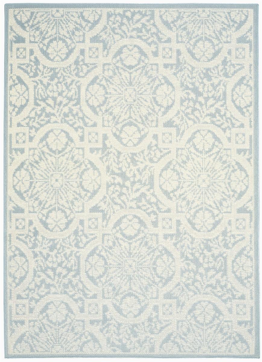 nourison aruba arb02 light blue cream area rugx
