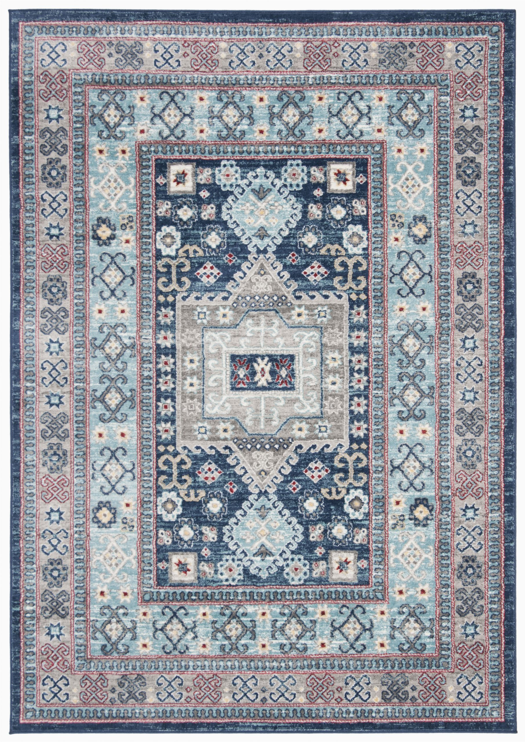 sereno bluecream area rug