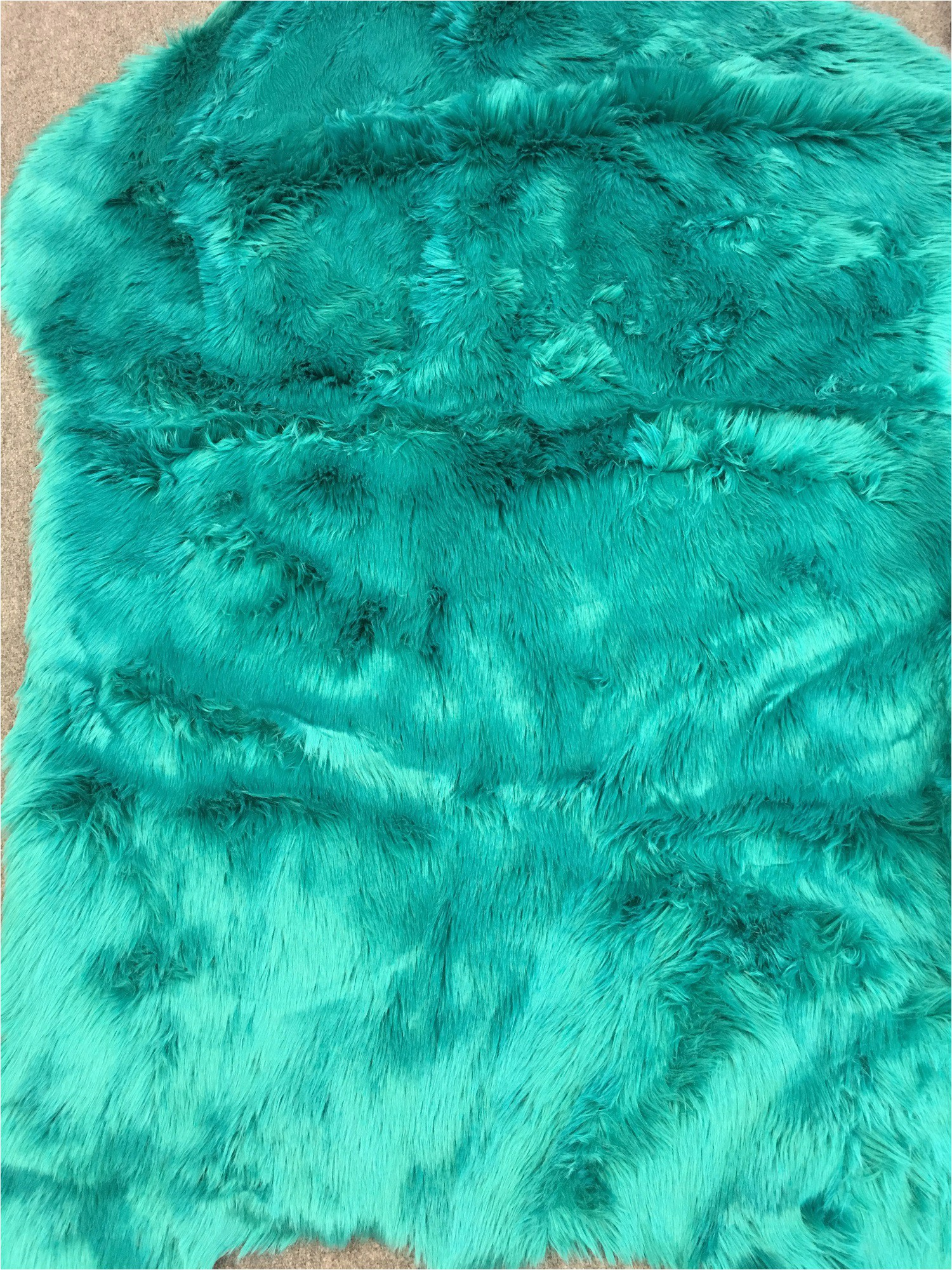 Blue Faux Sheepskin Rug area Rugs&seat sofa Cover with Turquoise Faux Sheepskin for Livingroom