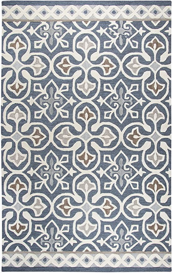 Blue Gray and Taupe area Rug Amazon Rizzy Home Opulent Collection Wool area Rug 2 6