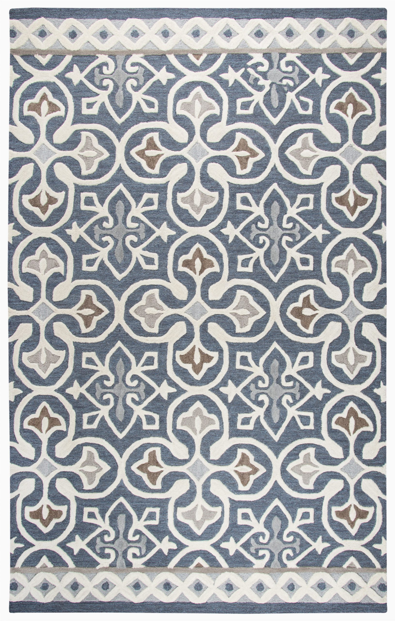 Blue Gray and Taupe area Rug Aurelia Hand Tufted Blue Gray area Rug