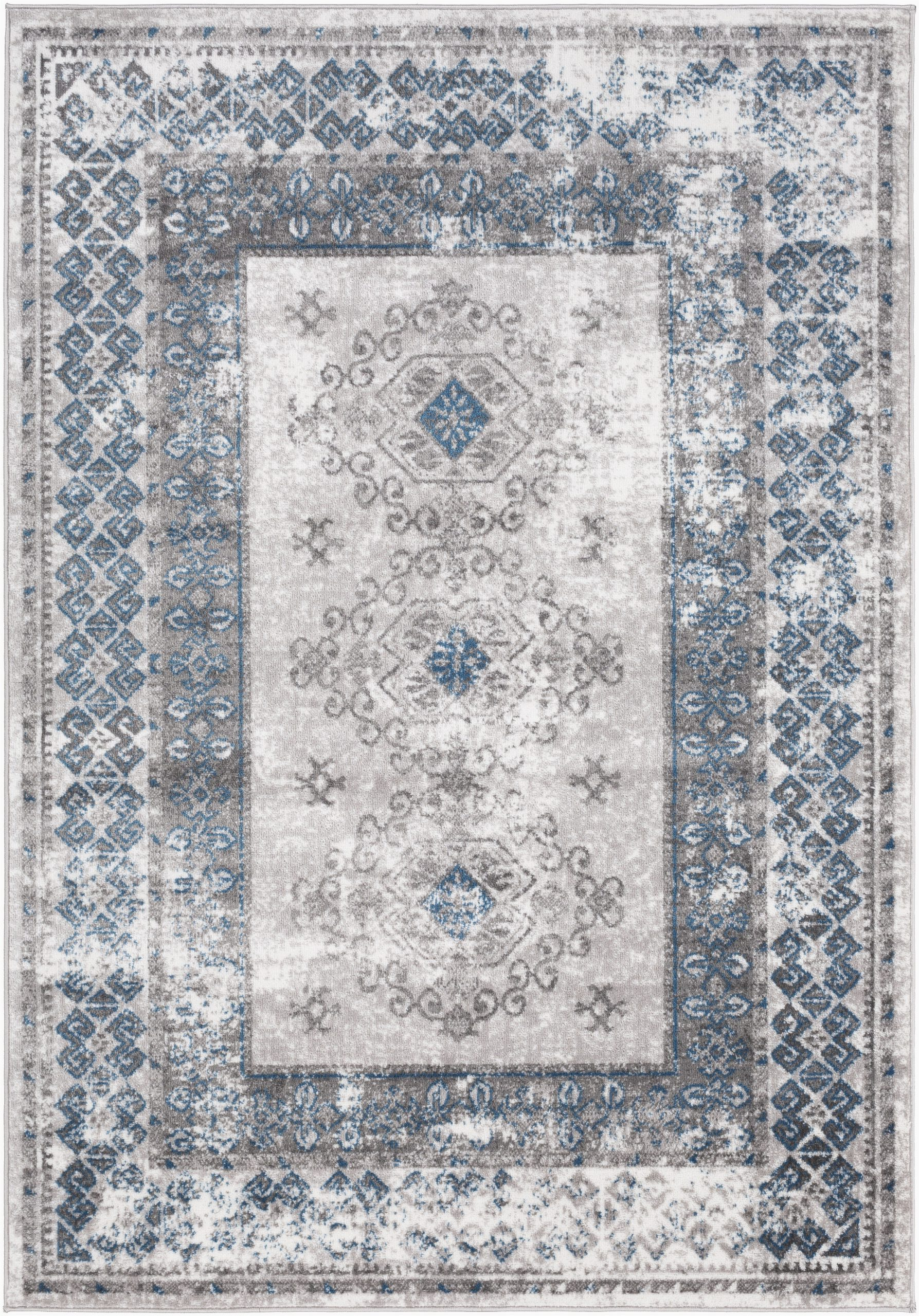 Blue Gray and Taupe area Rug Ranck oriental Taupe Blue area Rug
