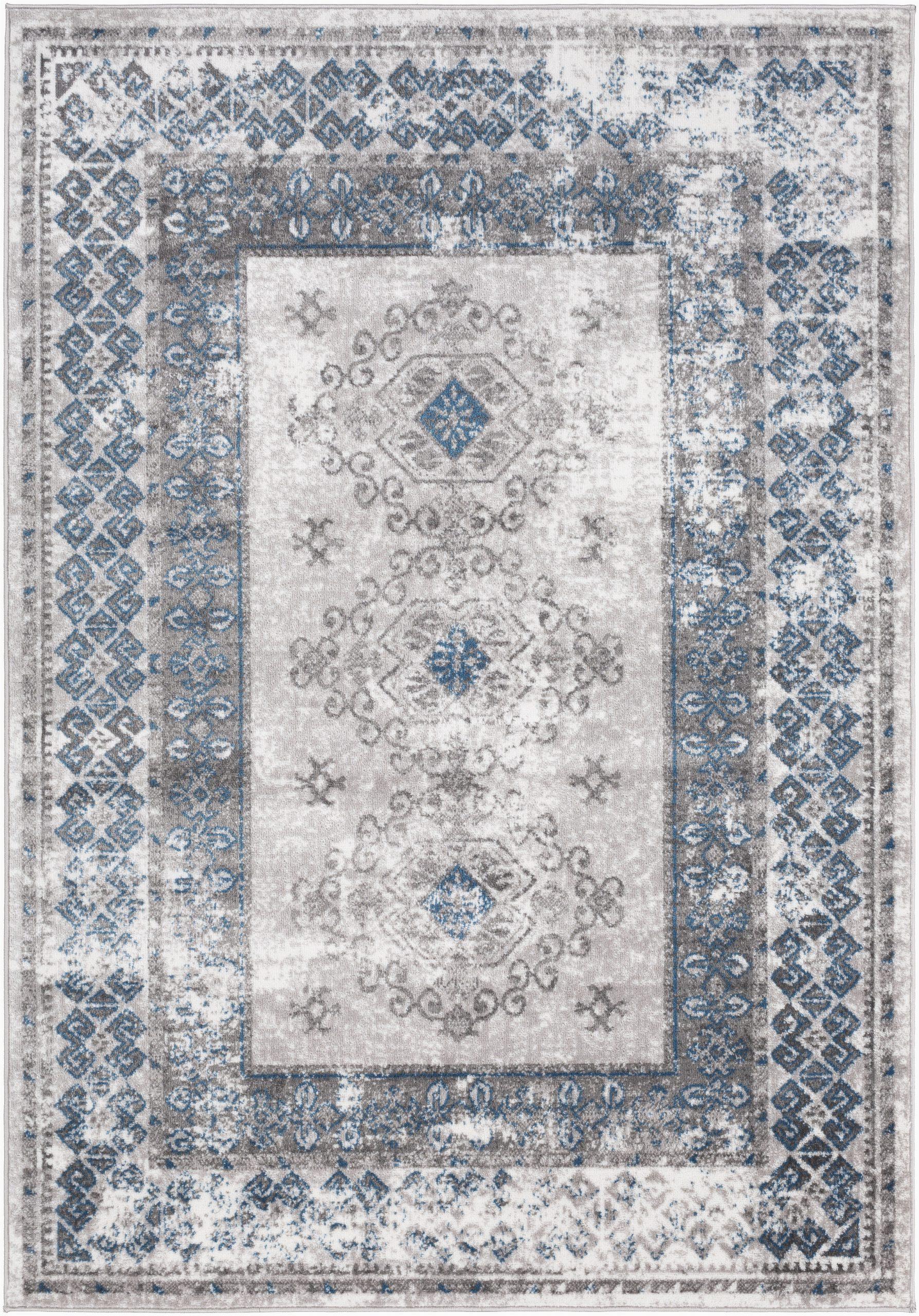 ranck oriental taupeblue area rug