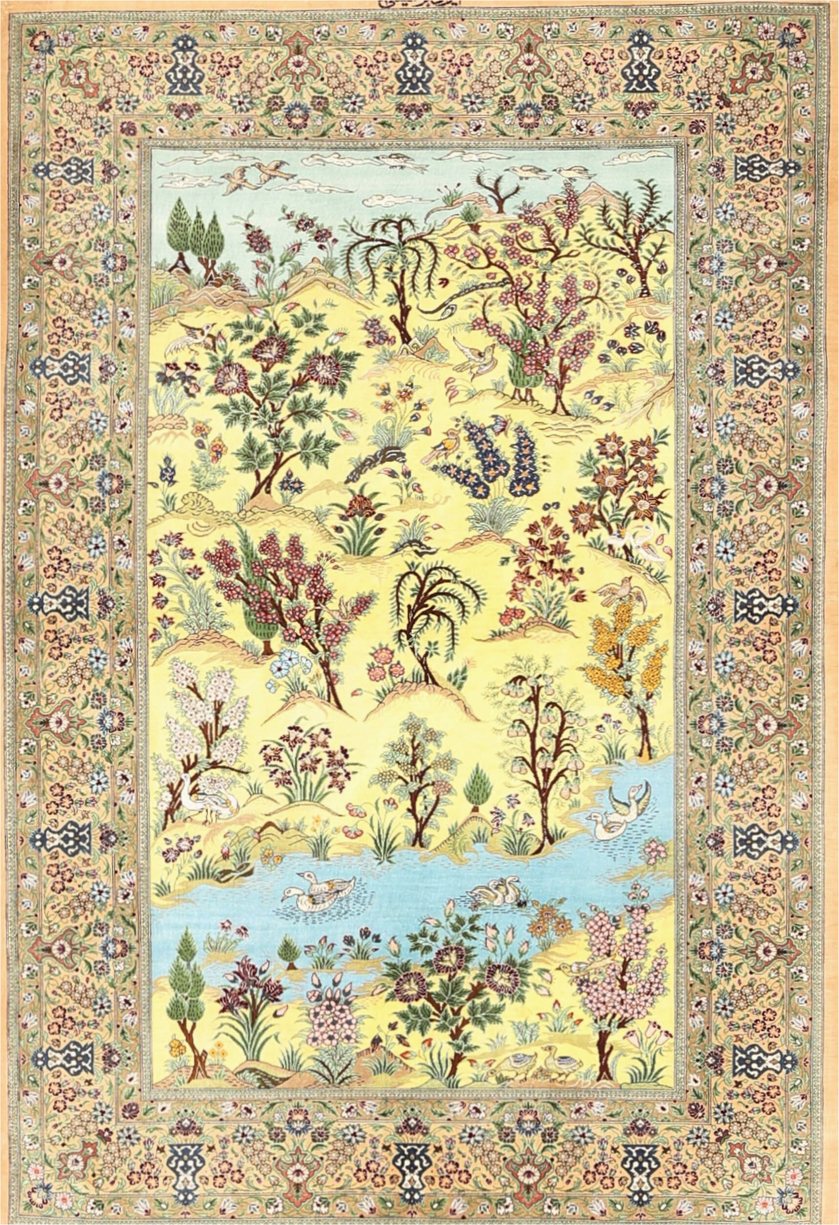feltault traditional greenbluebrown area rug