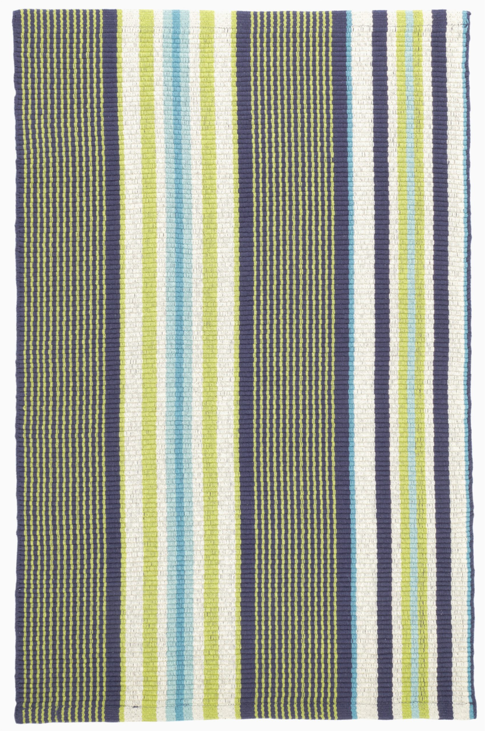 asher striped handmade flatweave cotton bluegreen area rug