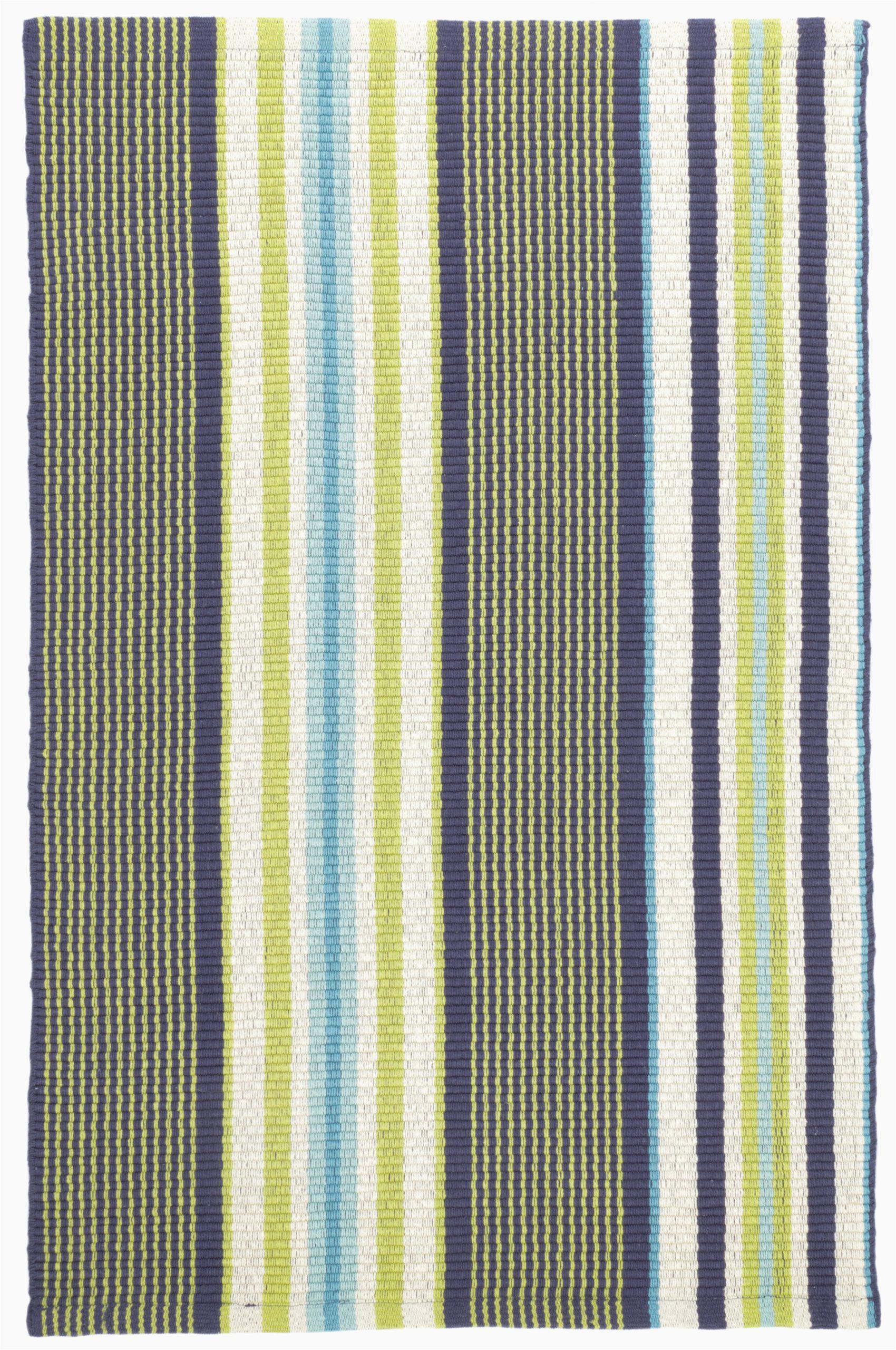 asher striped handmade flatweave cotton bluegreen area rug