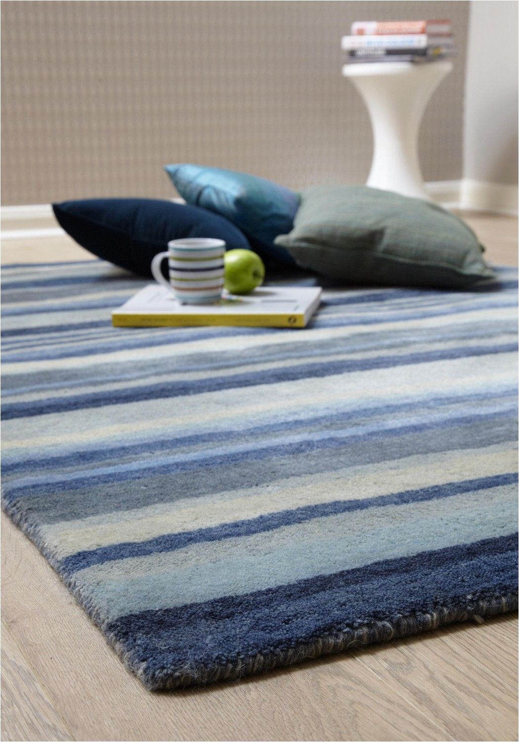 review of ultimate stripe 01 blue grey wool rug by plantation rugs hadfields