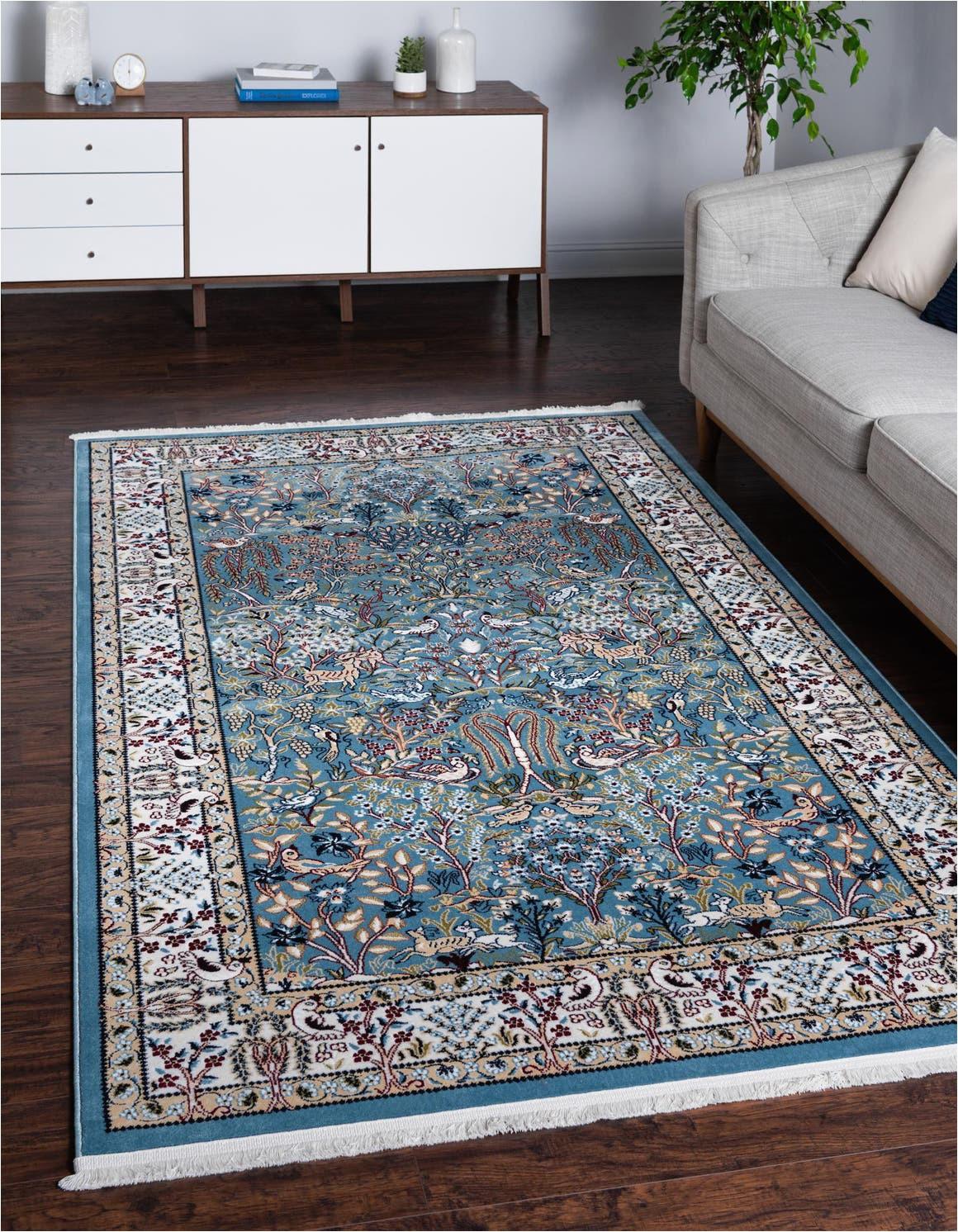 blue 8x10 nain design area rug