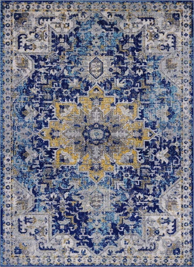 Blue oriental Rugs 8×10 Luxe Weavers Manhattan Collection oriental 8×10 Blue area Rug 2527