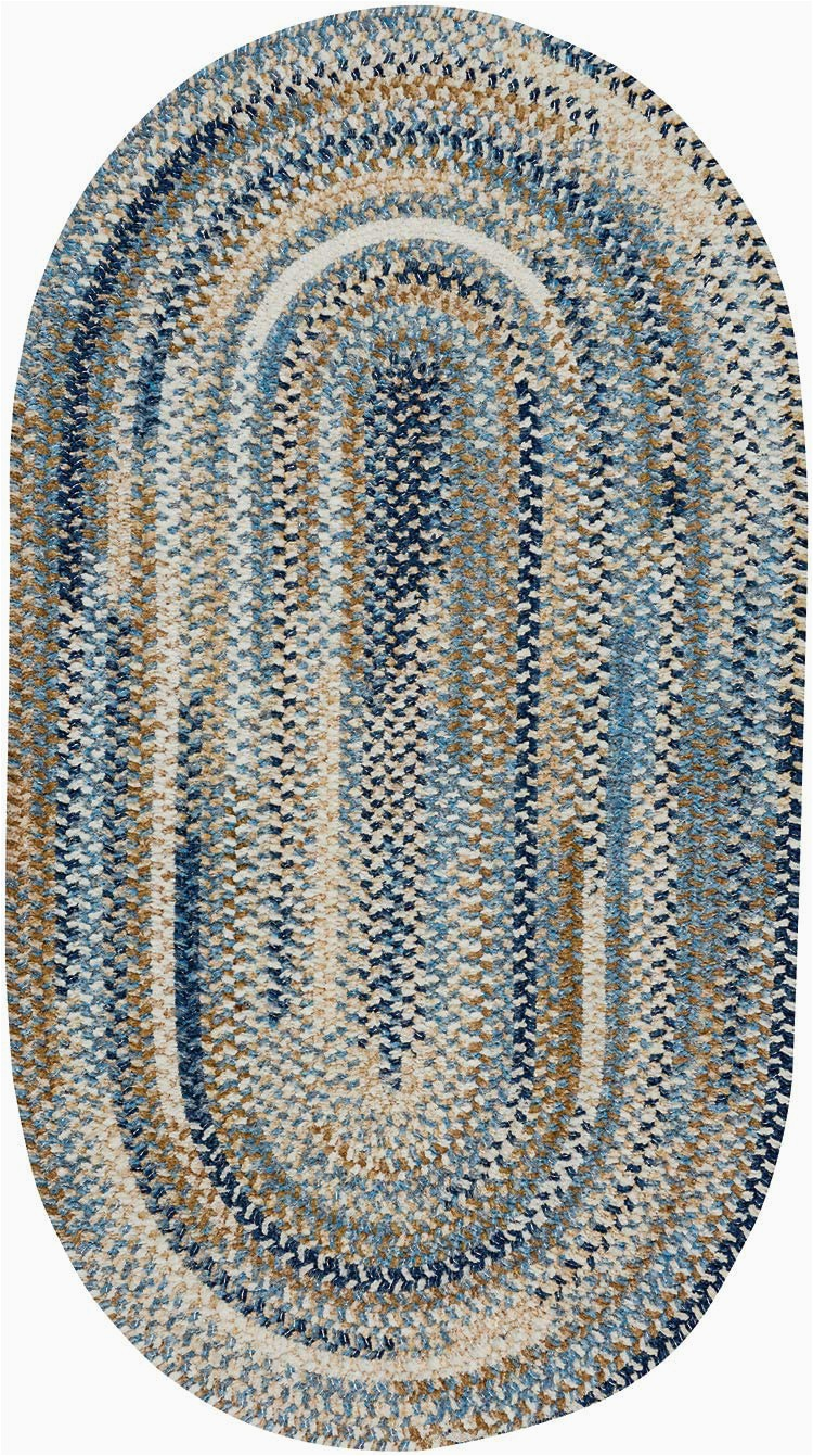 Blue Oval area Rugs Amazon Capel Rugs Habitat Braided Oval area Rug Blue