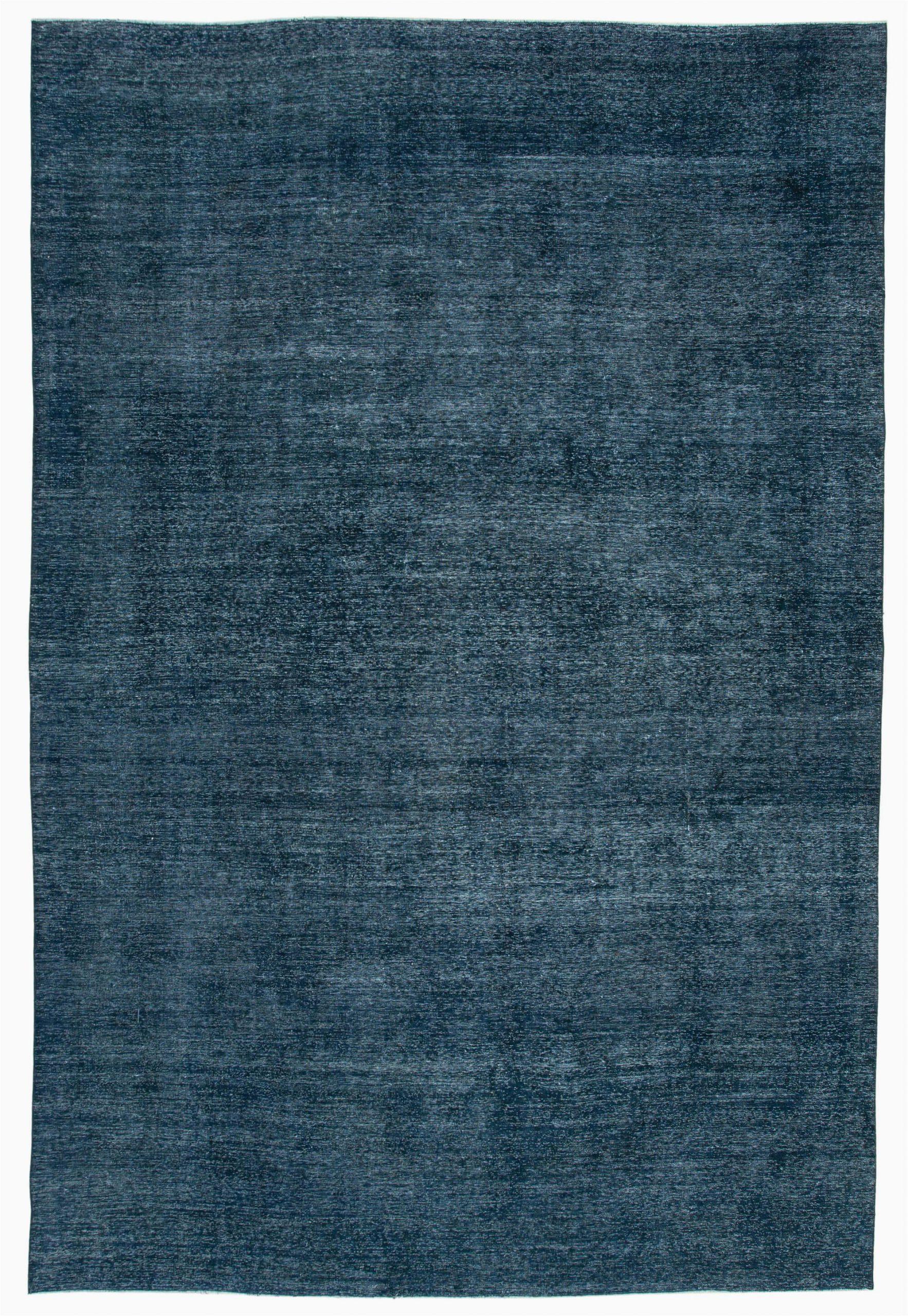 8x13 blue overdyed large area rug 2291