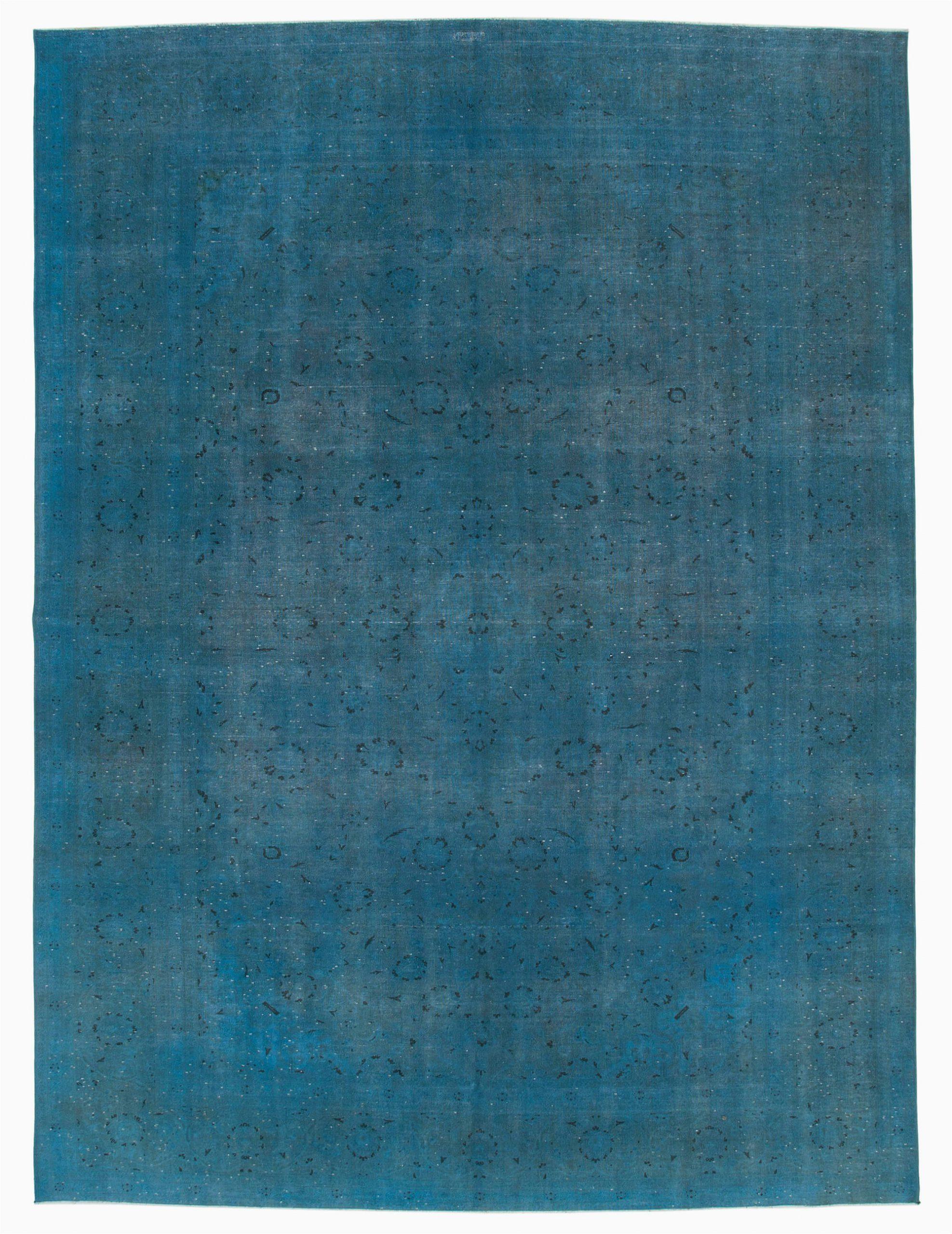 9x12 blue overdyed large area rug 5565