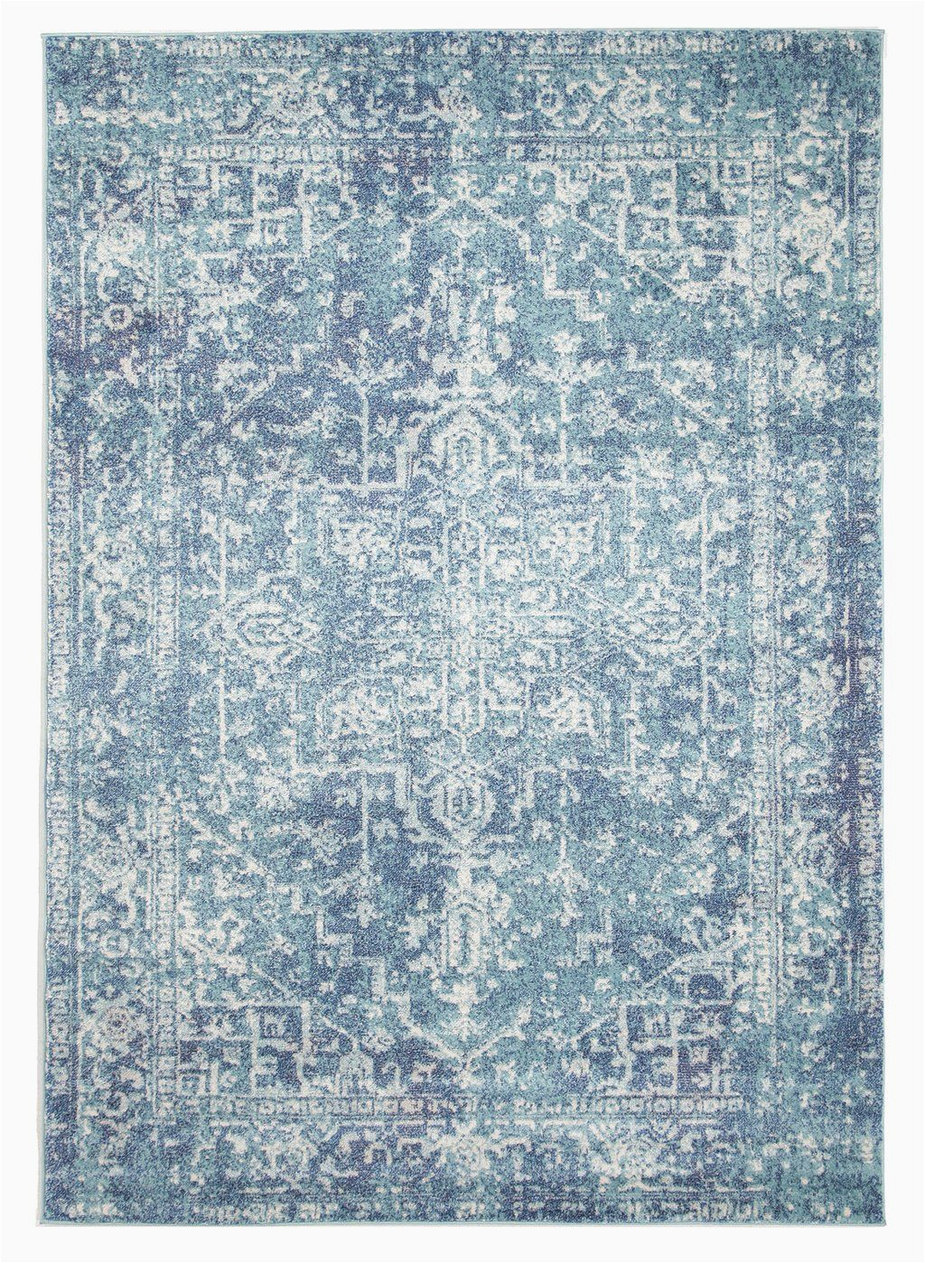 Blue Transitional area Rugs Hadera Blue Transitional Rug