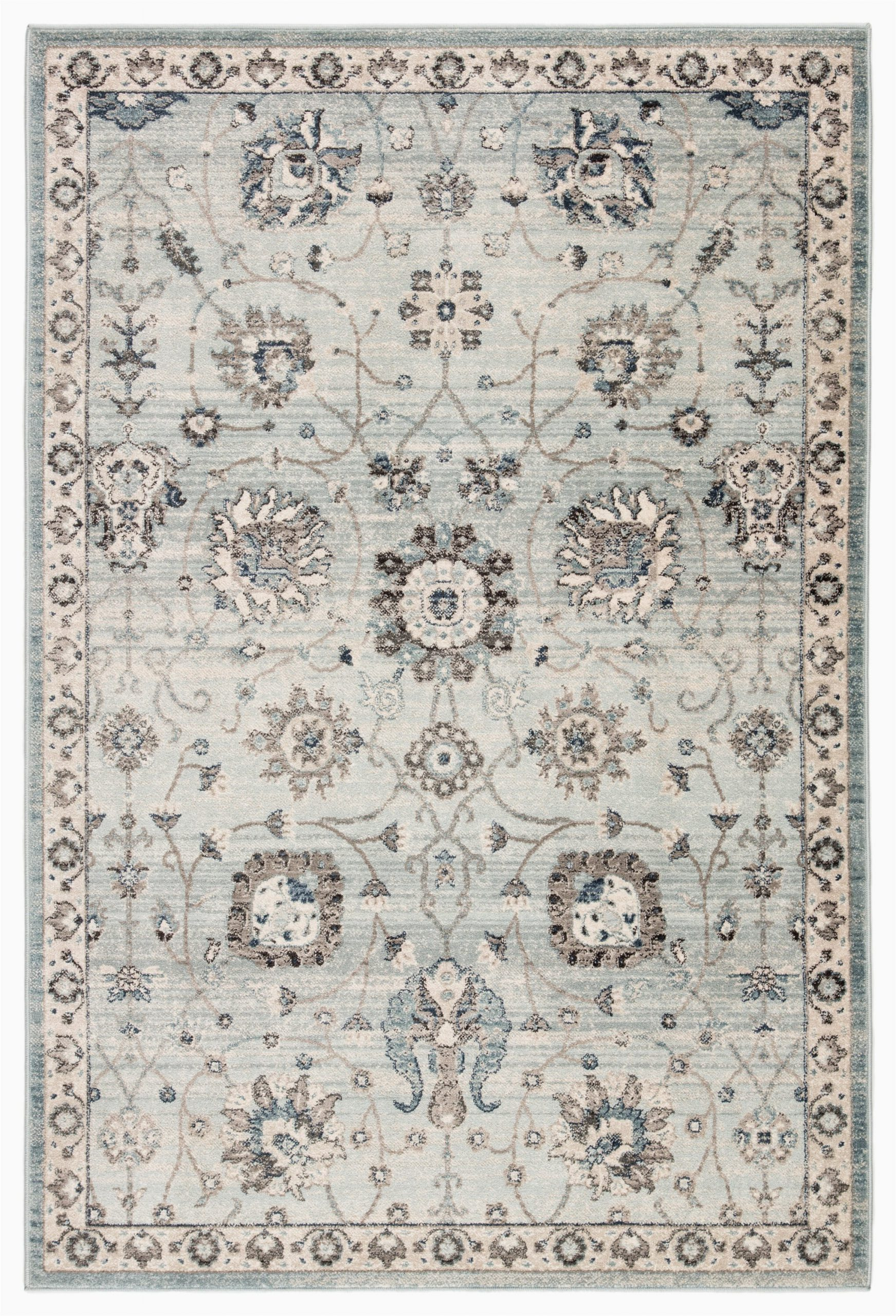 Blue Transitional area Rugs Pharr oriental Light Blue Gray area Rug