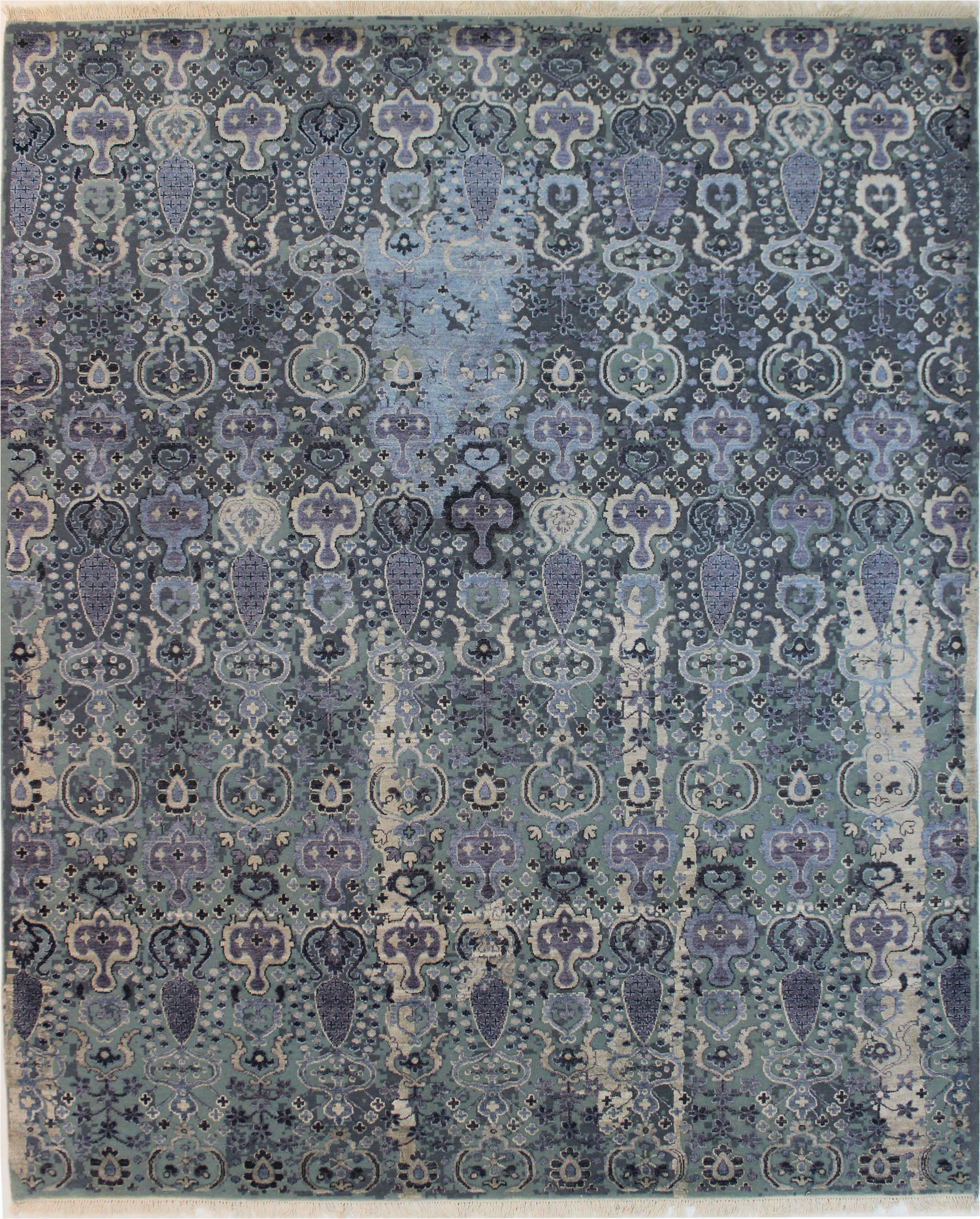"Blue Wool Rugs 8×10 Jaldar Blue Hand Knotted 8 1"" X 10 0"" area Rug 902"