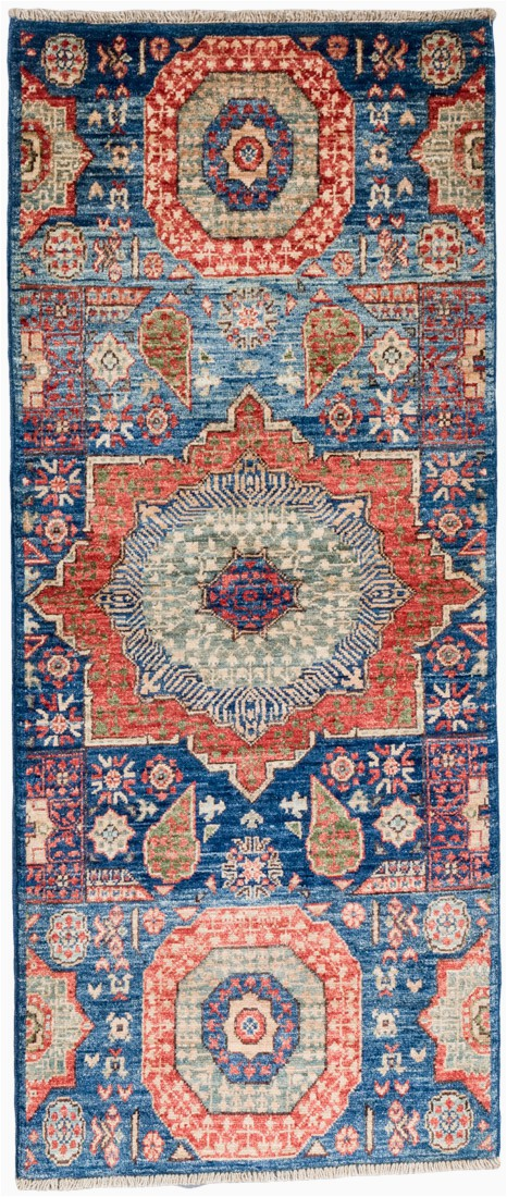 Blue Wool Runner Rug Mamluk Navy Blue Wool Short Runner Rug