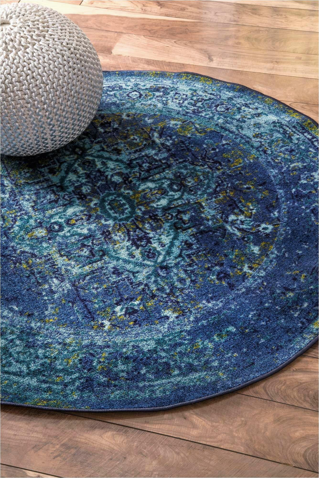 bungalow rose brennen oriental blue area rug w piid=
