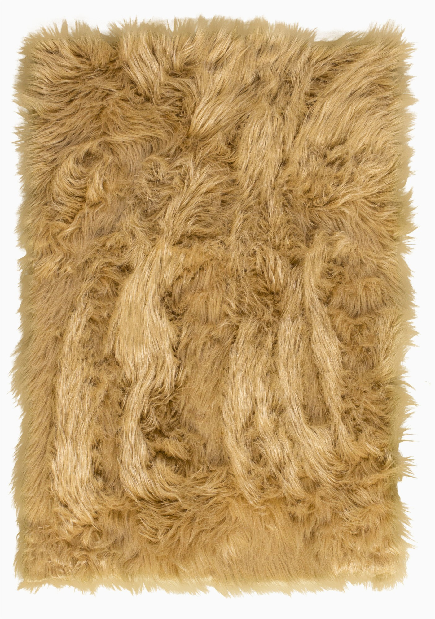 charlotte faux fur light brown area rug