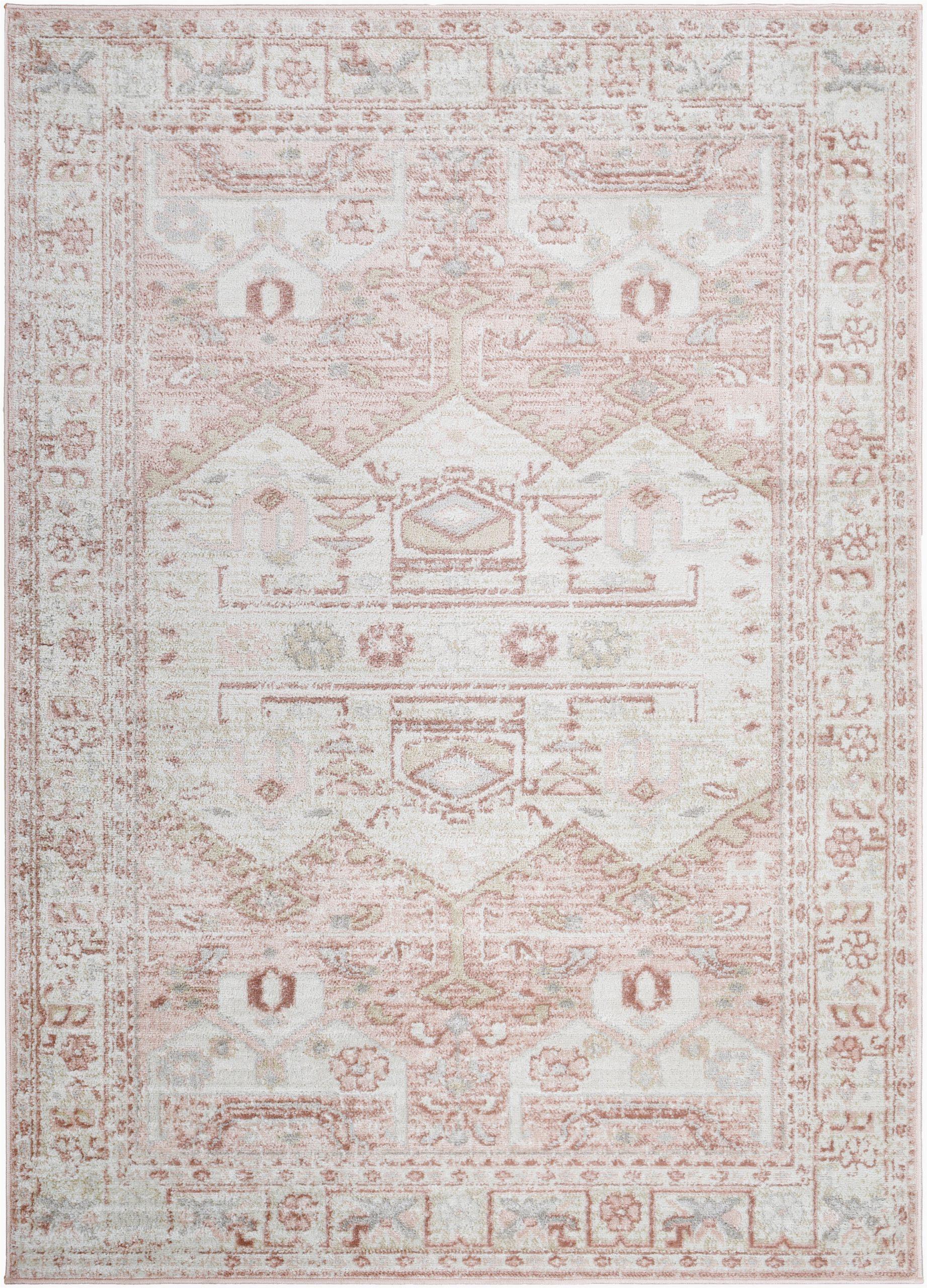 iohanna southwestern pinkwhite area rug