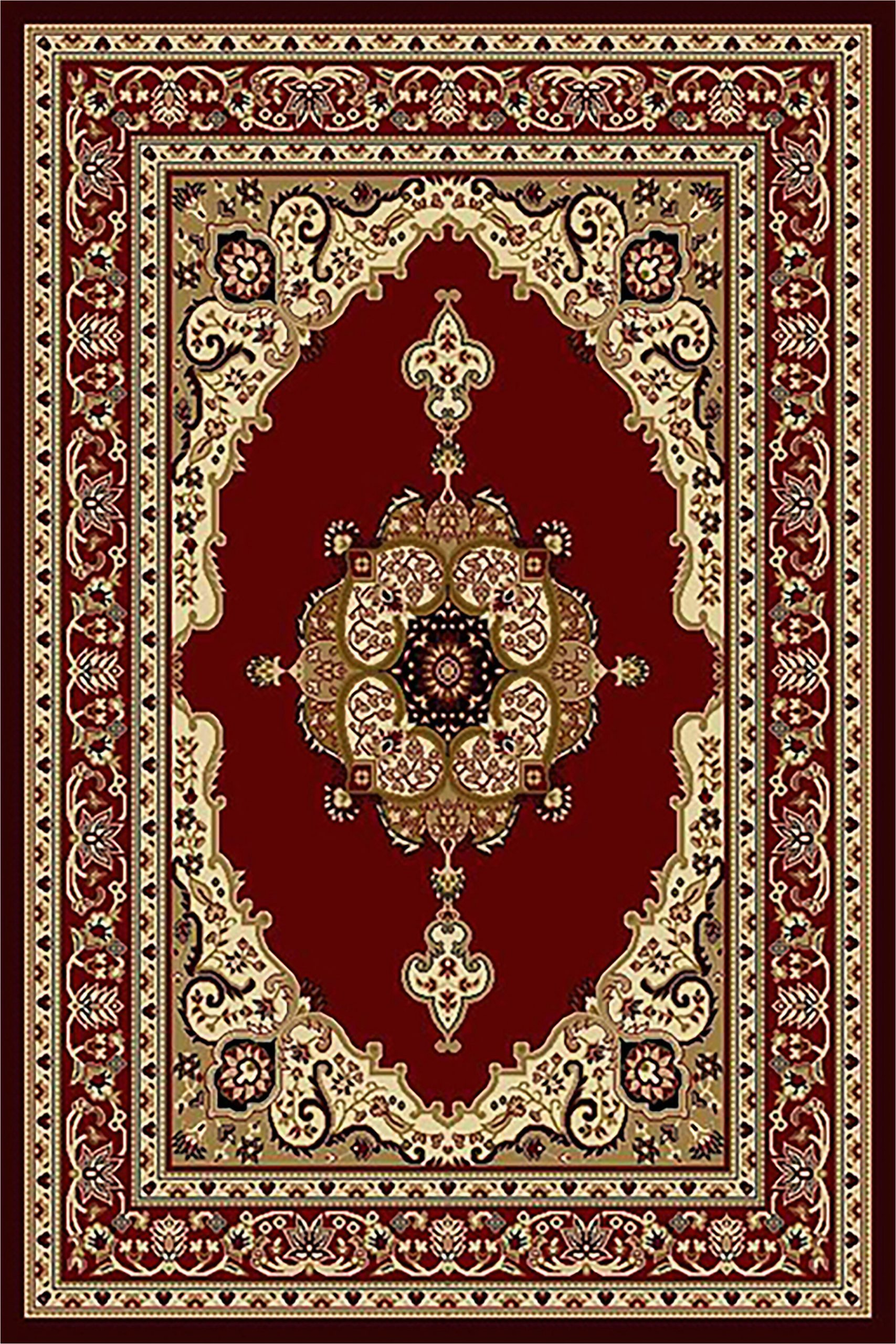 Burgundy and Cream area Rugs Eilidh oriental Burgundy Cream area Rug