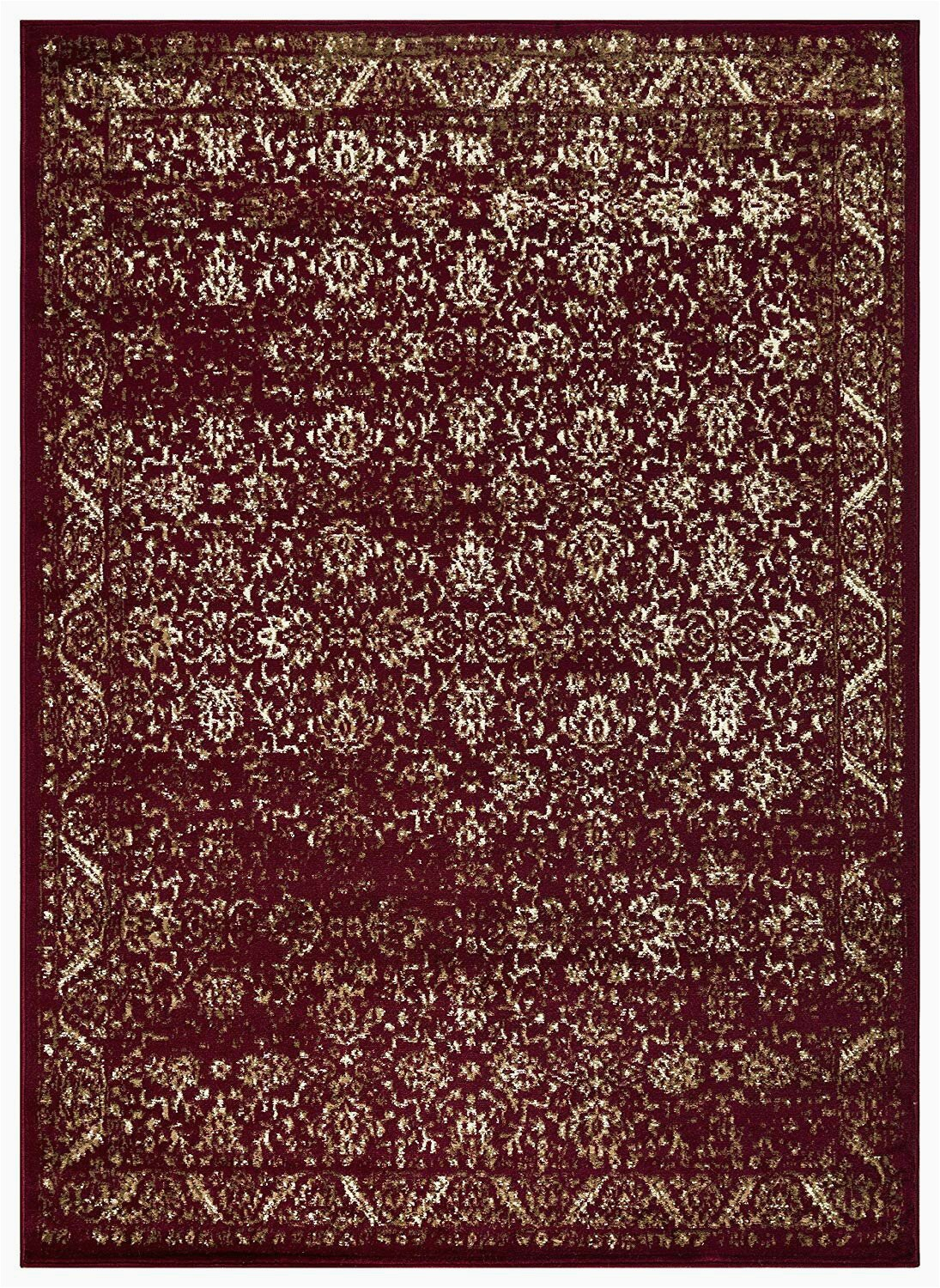Burgundy and Cream area Rugs Thais oriental Cream Burgundy area Rug