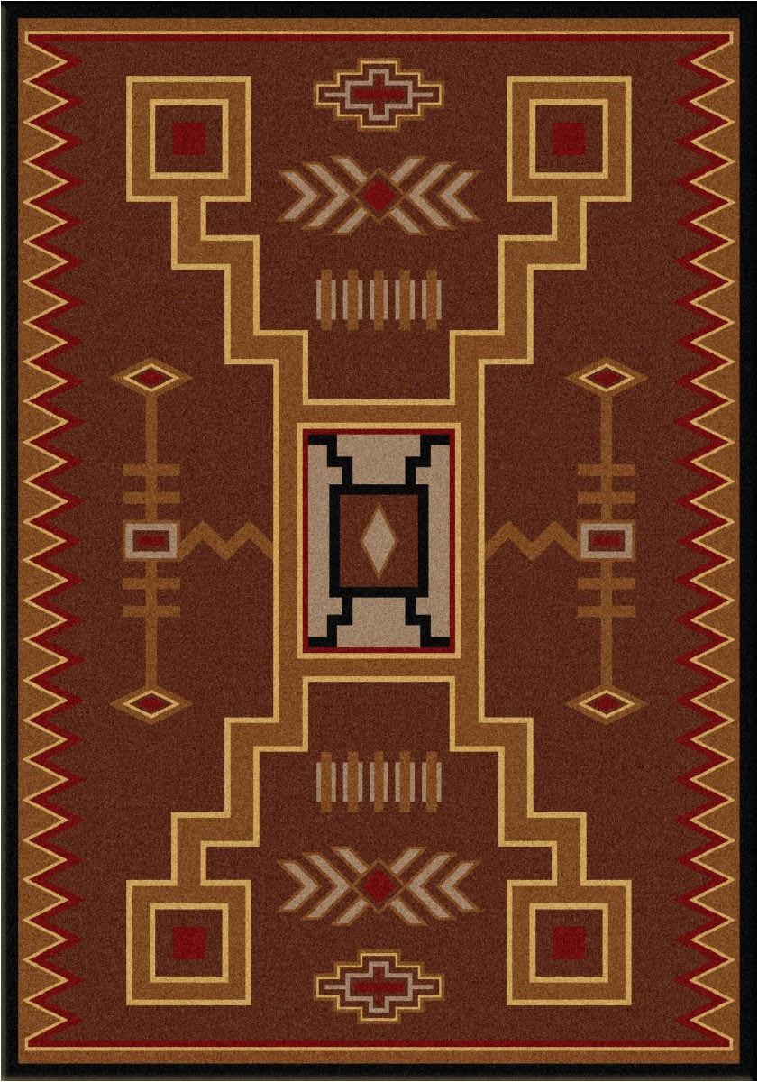 Cabin area Rugs for Sale American Dakota Cabin Thunderstorm Brown area Rug
