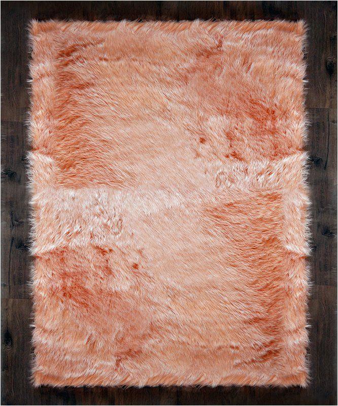 Cheap Faux Fur area Rugs Faux Fur Blush area Rug