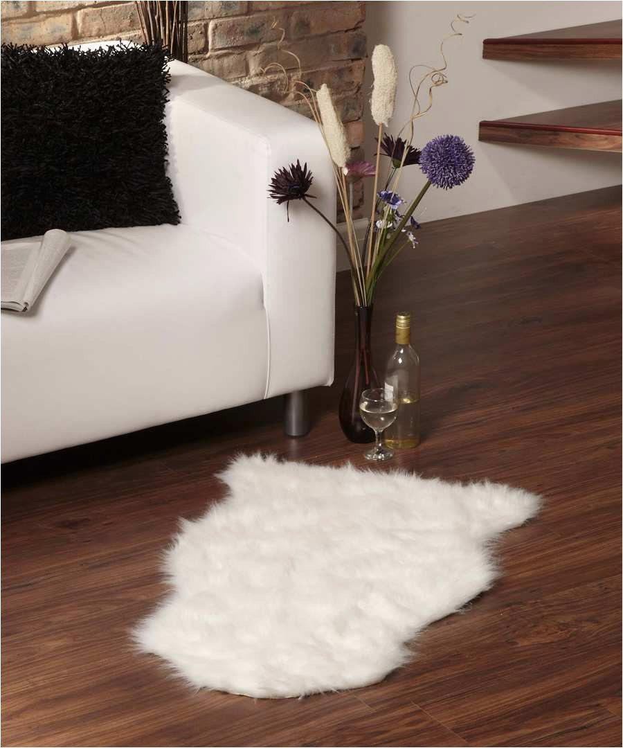 Cheap Faux Fur area Rugs Rugs Smooth White Fur Rug for Cute Floor Accessories Design